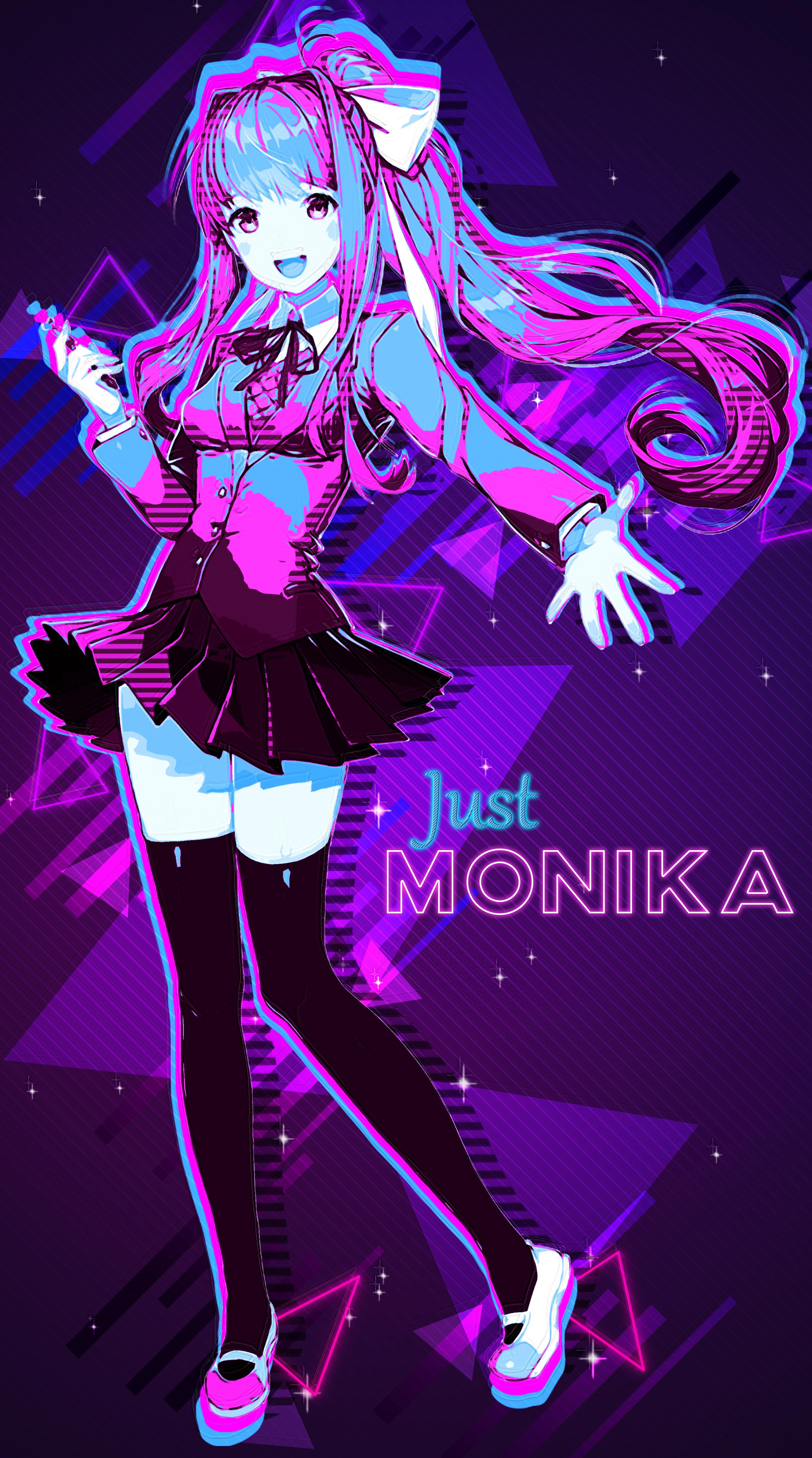 Monika Wallpapers Top Free Monika Backgrounds Wallpaperaccess