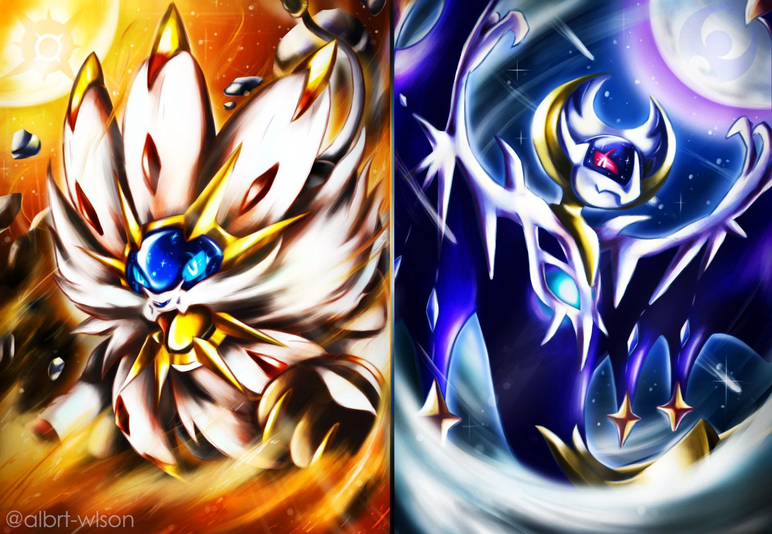 Legendary Pokemon Moon Wallpapers Top Free Legendary Pokemon Moon Backgrounds Wallpaperaccess