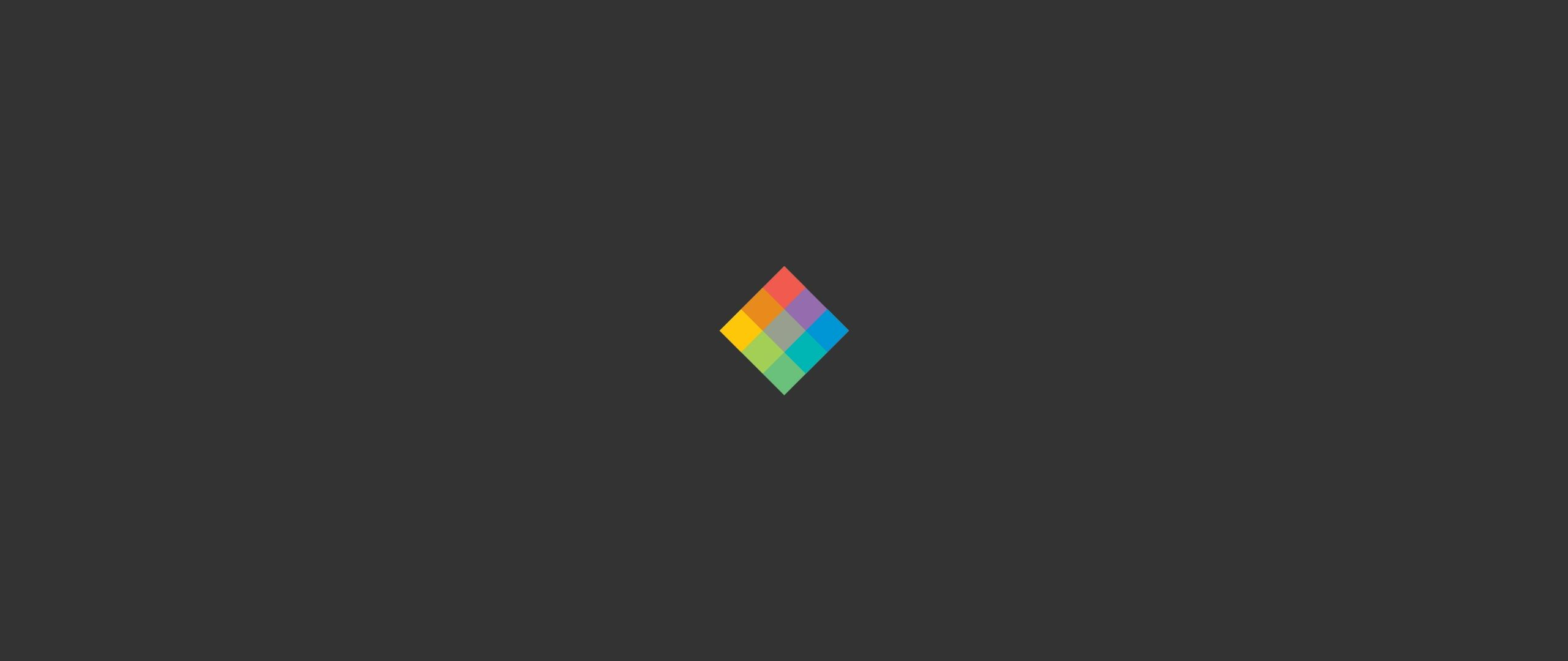 2560x1080 Download wallpaper 2560x1080 minimalist cube, bright, background