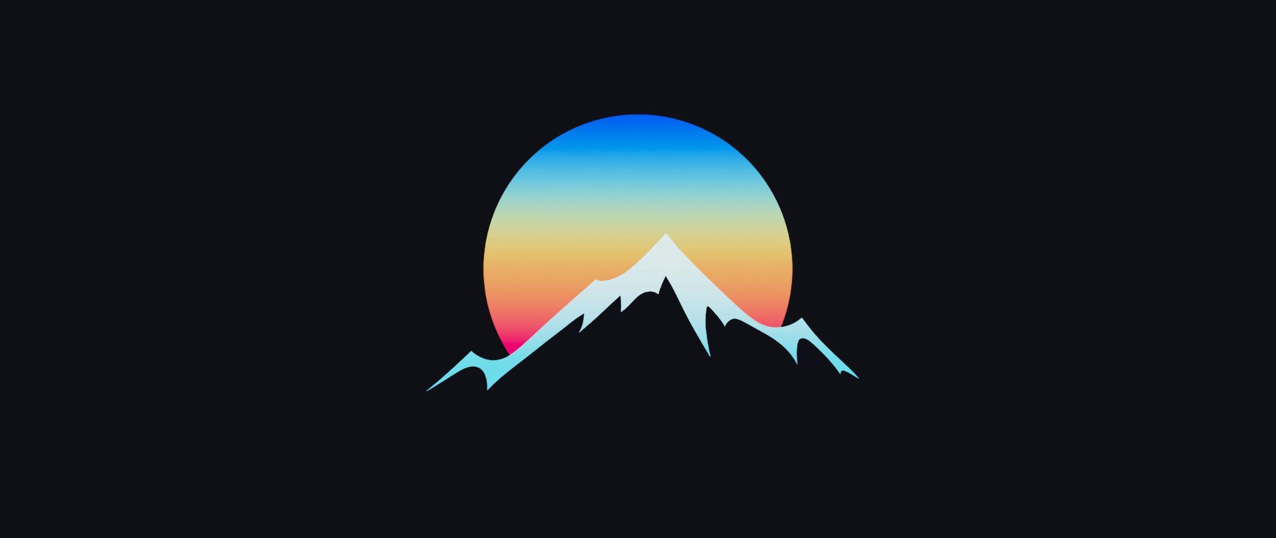 2560x1080 Minimalist Sunset In Hill 2560x1080 Resolution Wallpaper