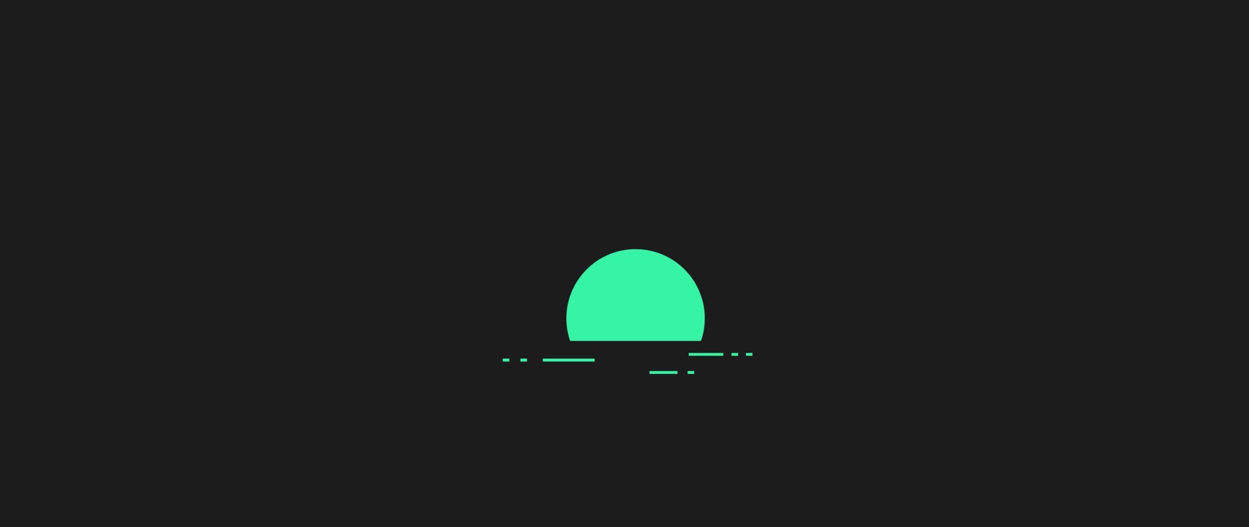 2560x1080 Minimalism Green Sunset 2560x1080 Resolution HD 4k
