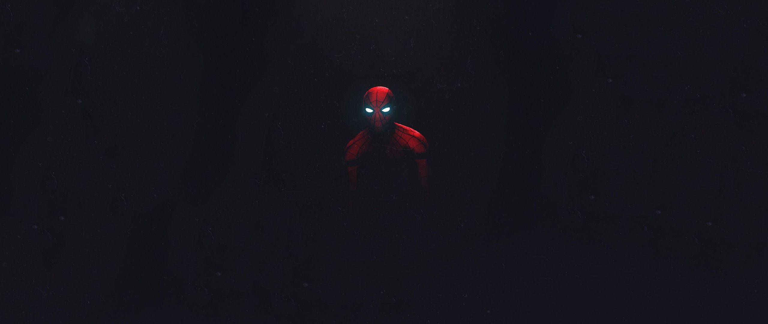 2560x1080 Tải xuống Người nhện, Tối và Tối giản, Hình nền nghệ thuật, 2560x1080