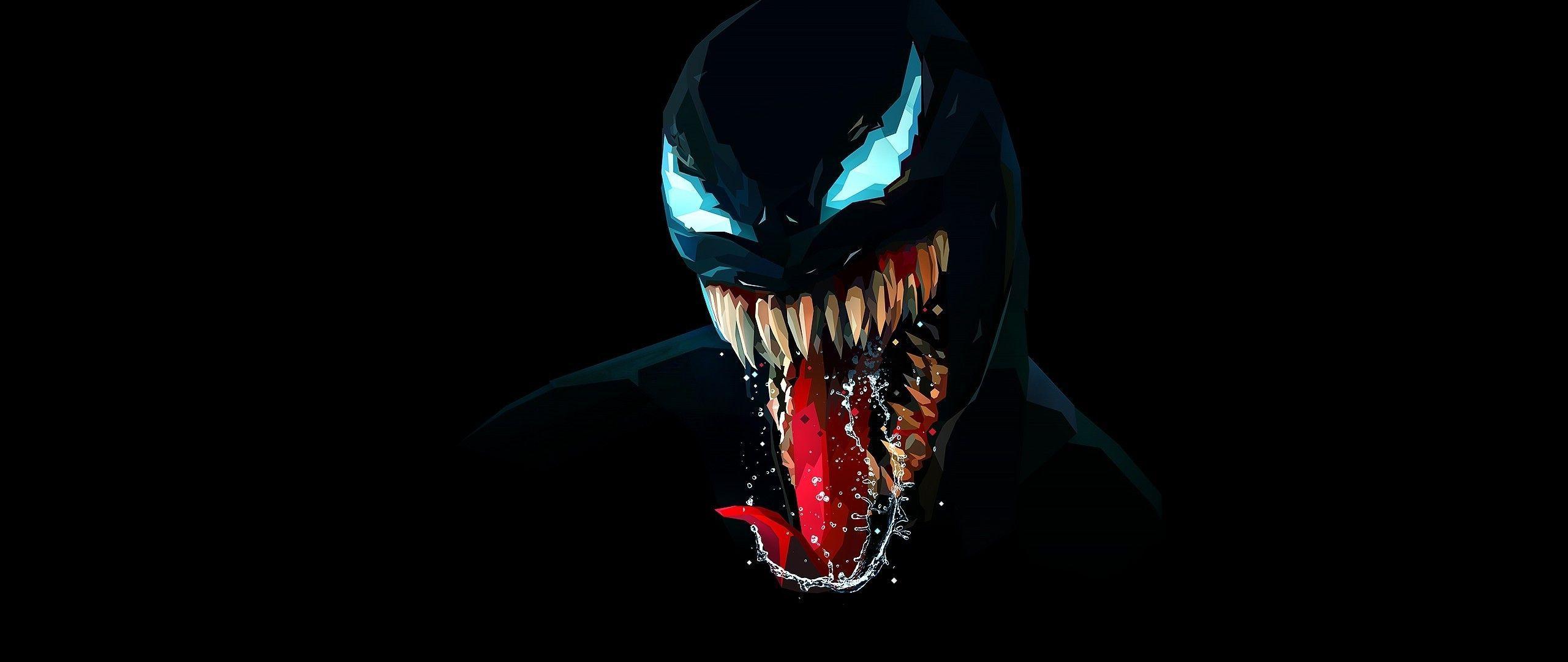 2560x1080 Tải xuống 2560x1080 Venom, Chủ nghĩa tối giản, Quái vật, Hình nền tác phẩm nghệ thuật