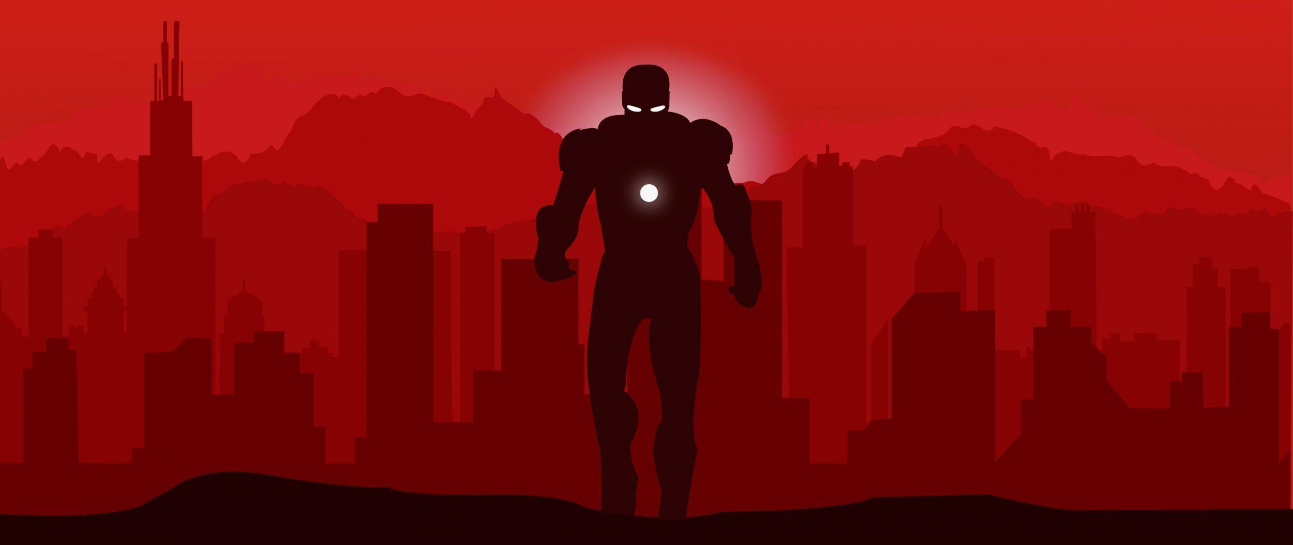 2560x1080 Tải xuống Anh hùng Marvel, Người sắt, siêu anh hùng, hình nền tối giản