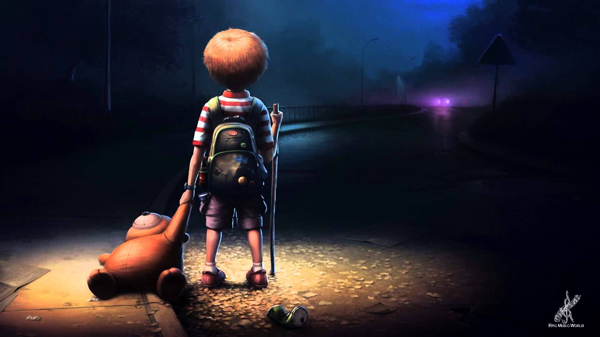 Alone Cartoon Wallpapers Top Free Alone Cartoon Backgrounds Wallpaperaccess