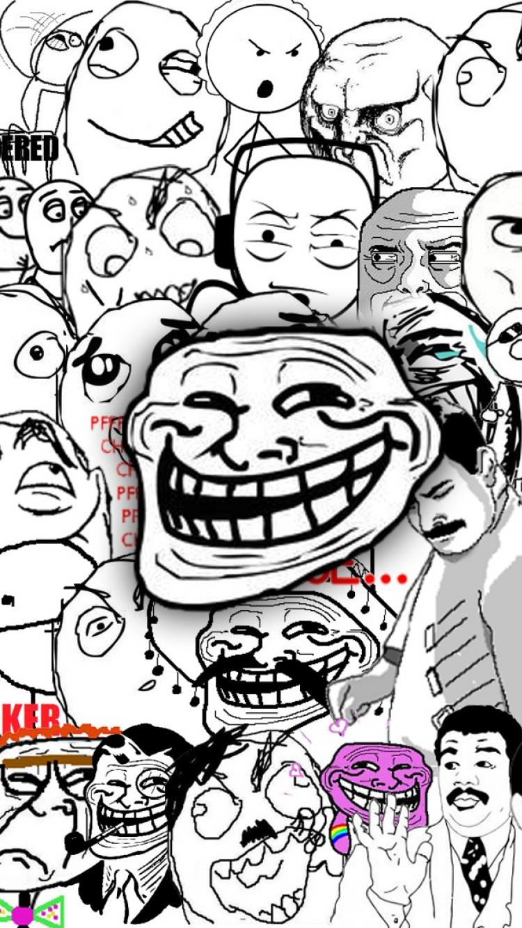 Troll Face Iphone Wallpapers Top Free Troll Face Iphone Backgrounds Wallpaperaccess