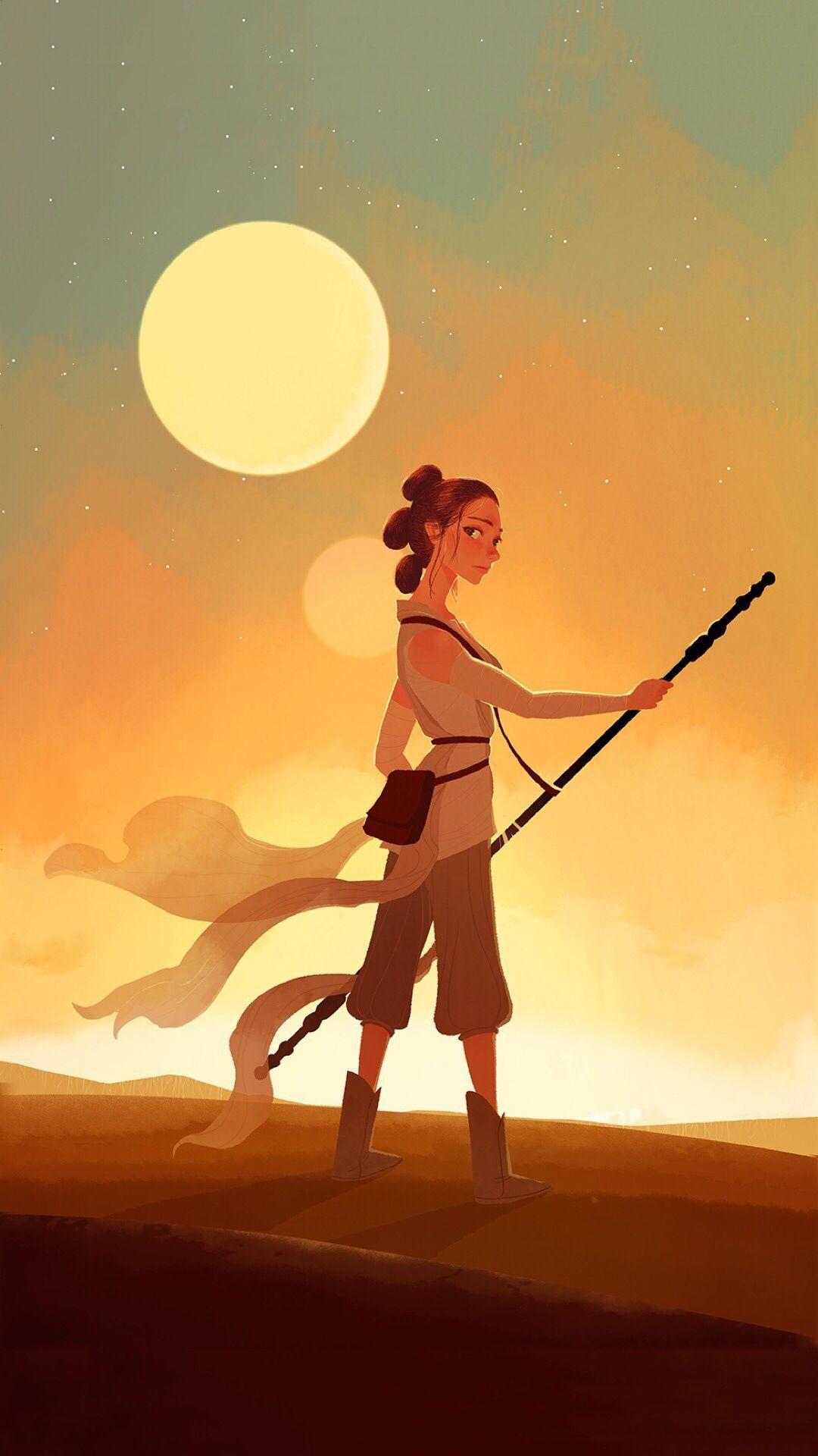 Rey Star Wars Phone Wallpapers Top Free Rey Star Wars Phone Backgrounds Wallpaperaccess