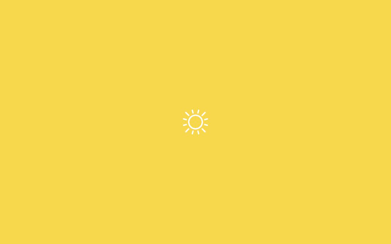 1280x800 Màu vàng dễ thương thẩm mỹ