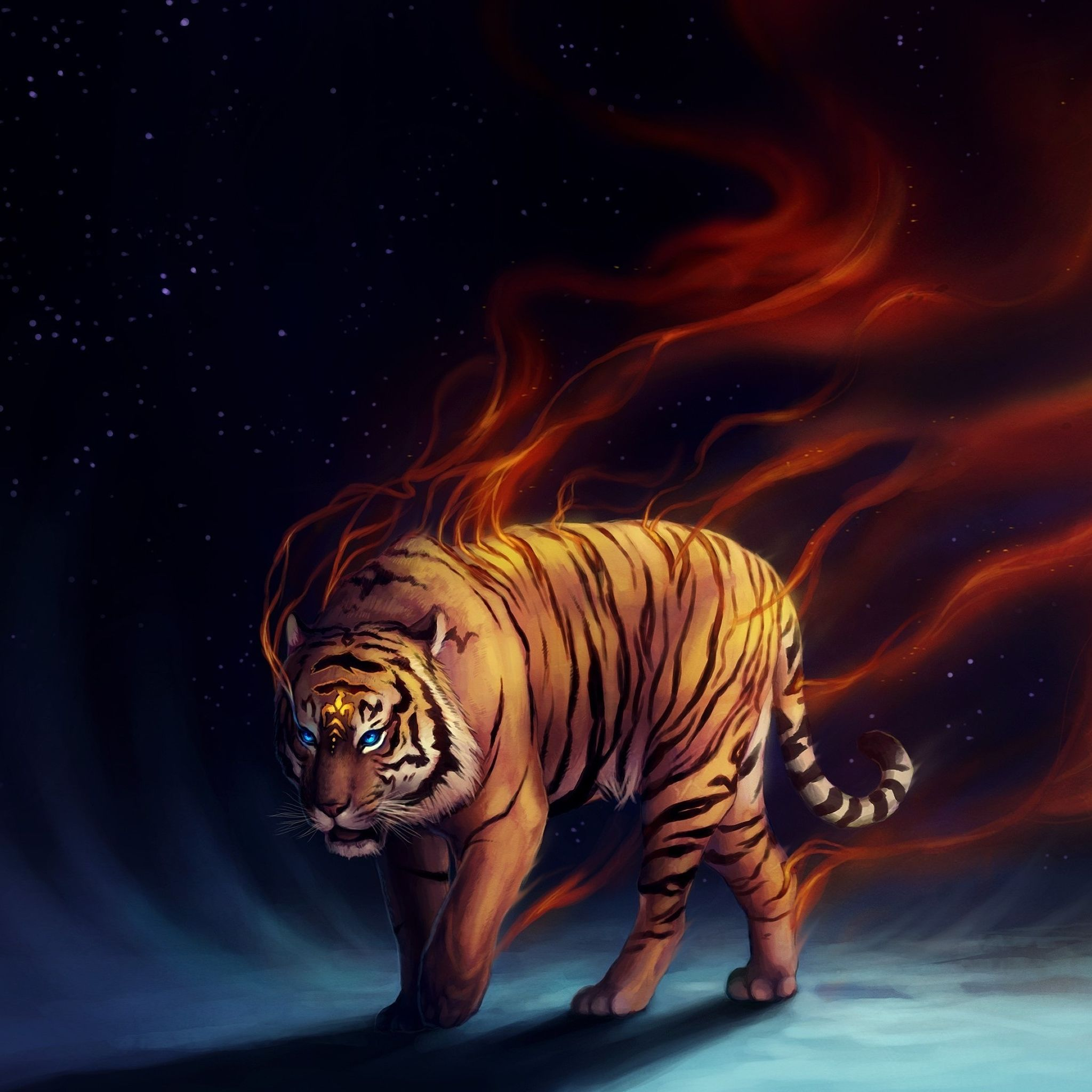 Aesthetic Tiger Wallpapers Top Free Aesthetic Tiger Backgrounds Wallpaperaccess