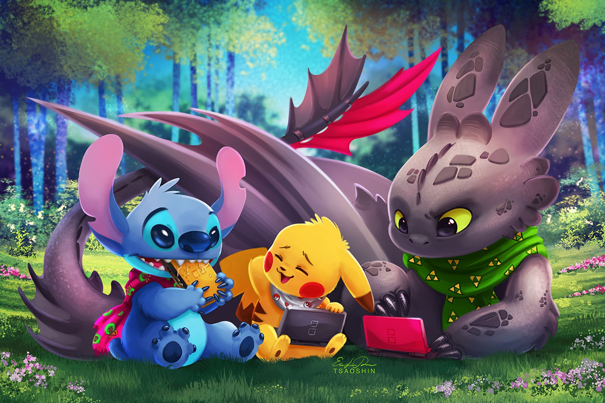 Toothless And Stitch Wallpapers Top Free Toothless And Stitch Backgrounds Wallpaperaccess