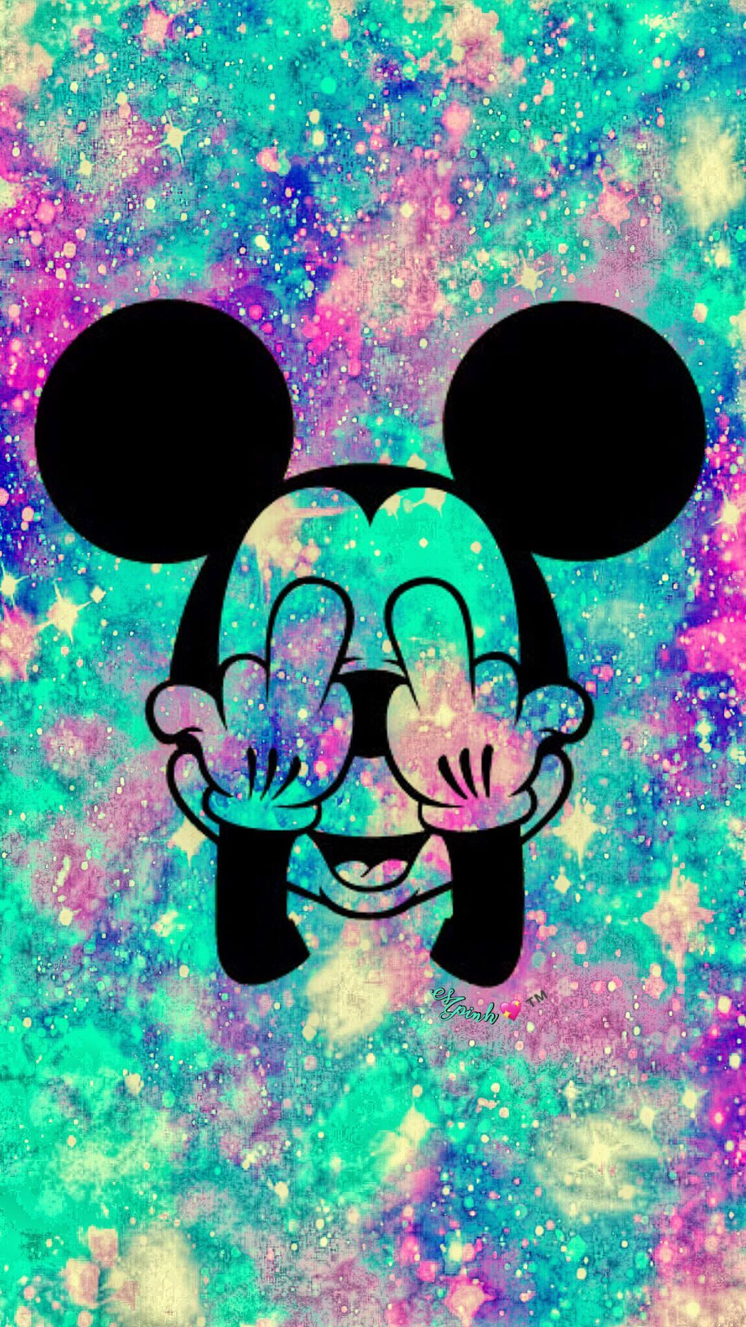 Mickey Mouse Galaxy Wallpapers Top Free Mickey Mouse Galaxy Backgrounds Wallpaperaccess