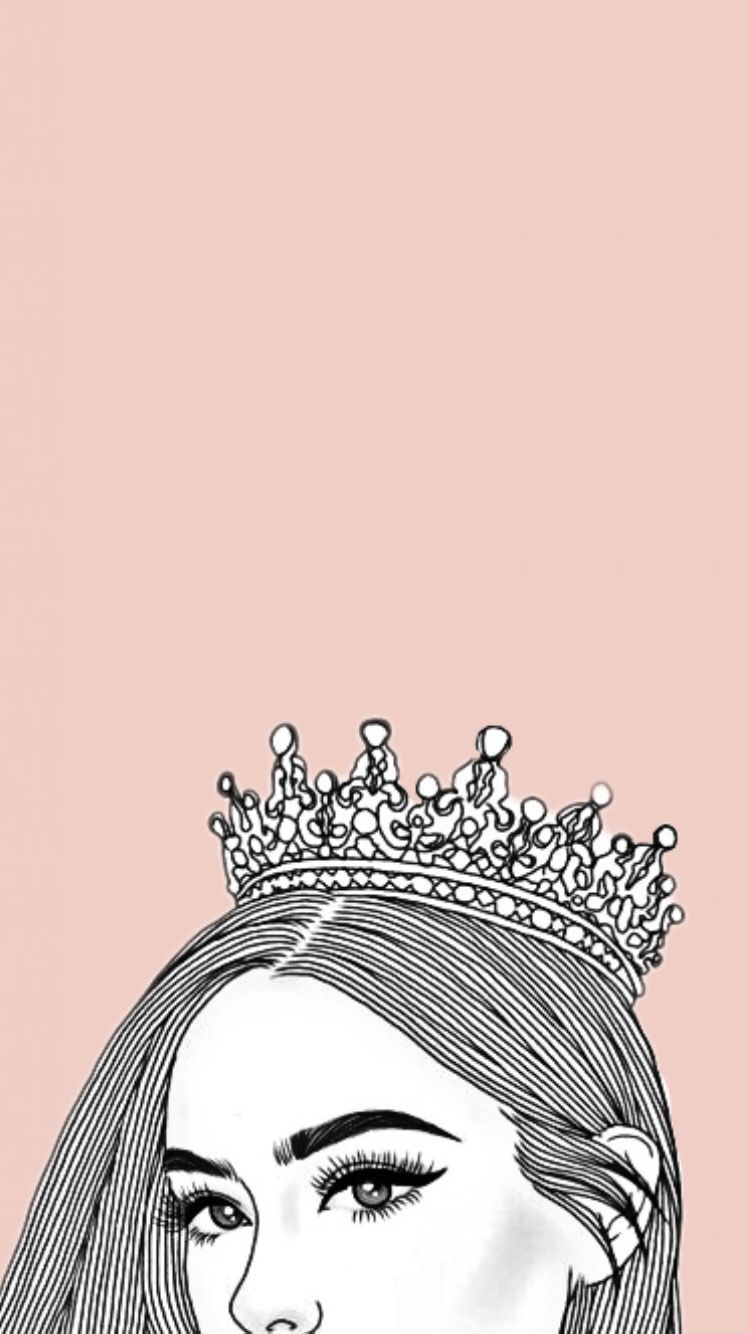 Aesthetic Queen Rose Gold Crown Wallpaper