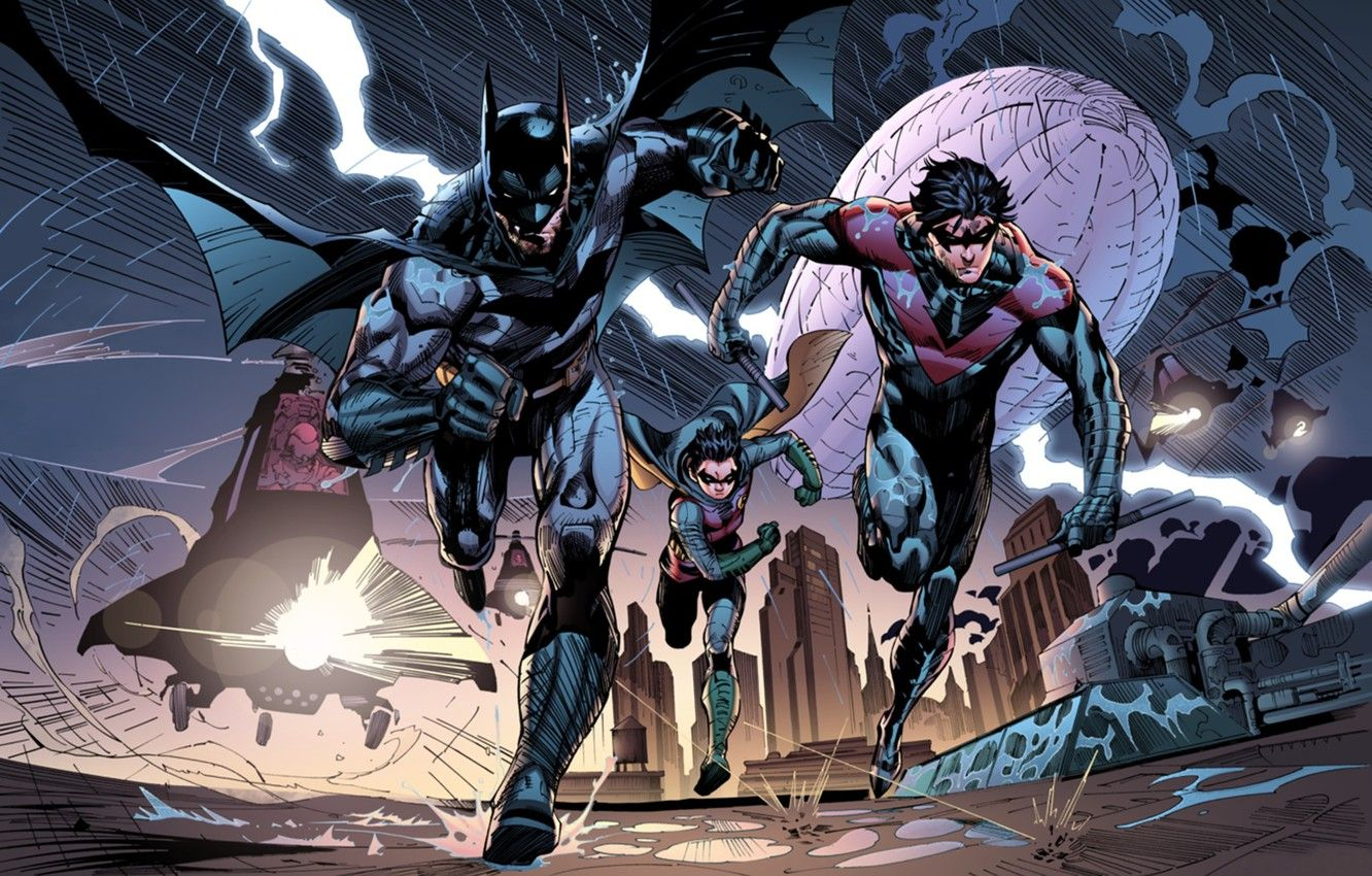 Batman And Nightwing Wallpapers Top Free Batman And Nightwing Backgrounds Wallpaperaccess