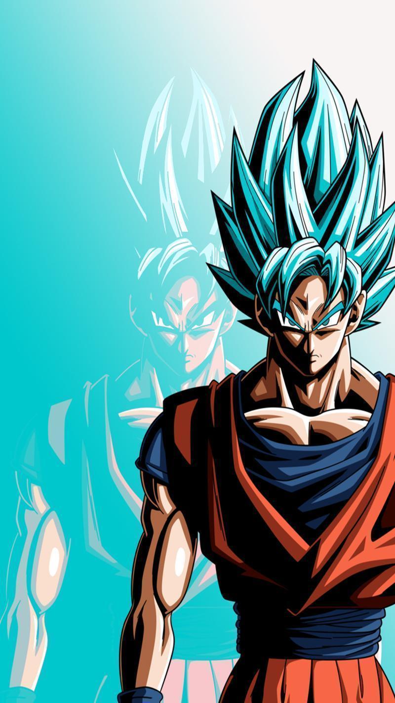 Goku Phone Wallpapers Top Free Goku Phone Backgrounds Wallpaperaccess
