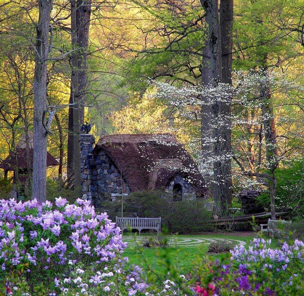 Storybook Cottage Garden Desktop Wallpapers