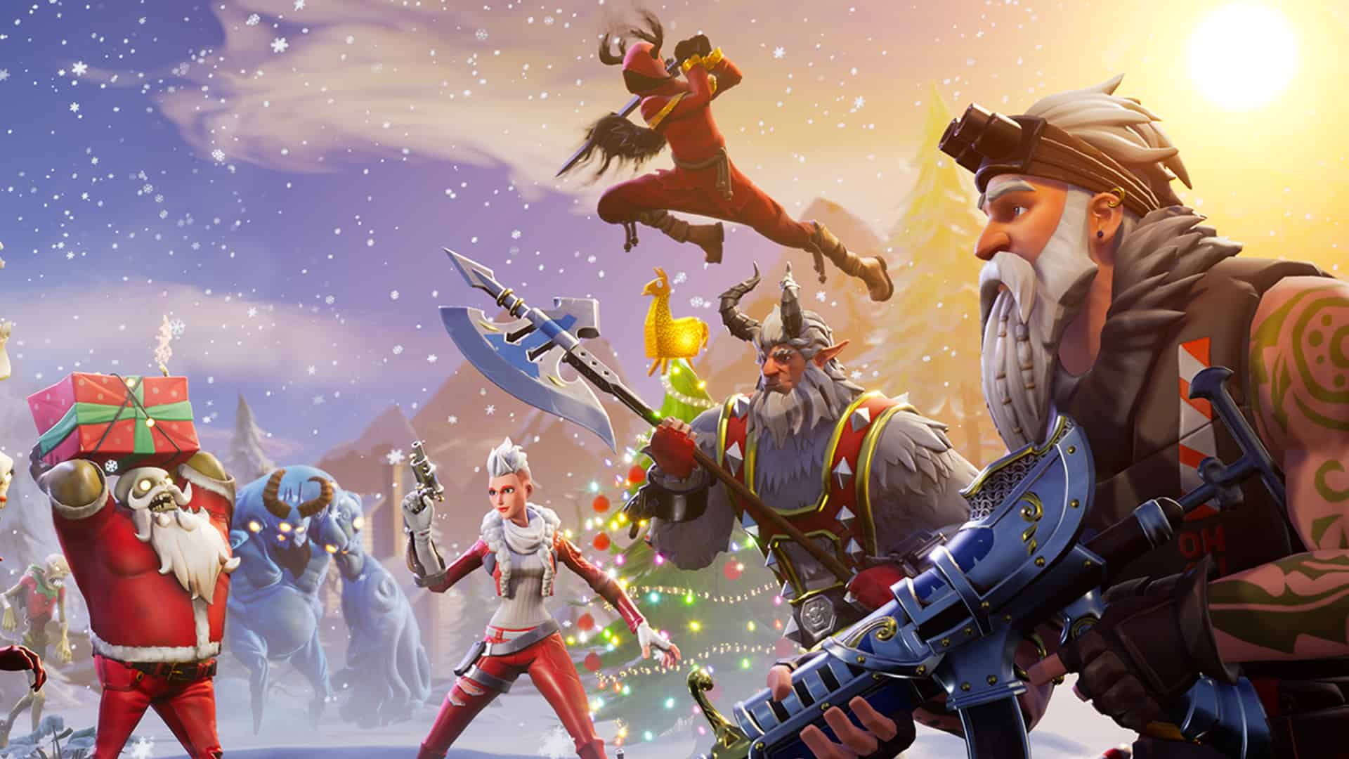 Fortnite Winter Wallpapers Top Free Fortnite Winter Backgrounds Wallpaperaccess