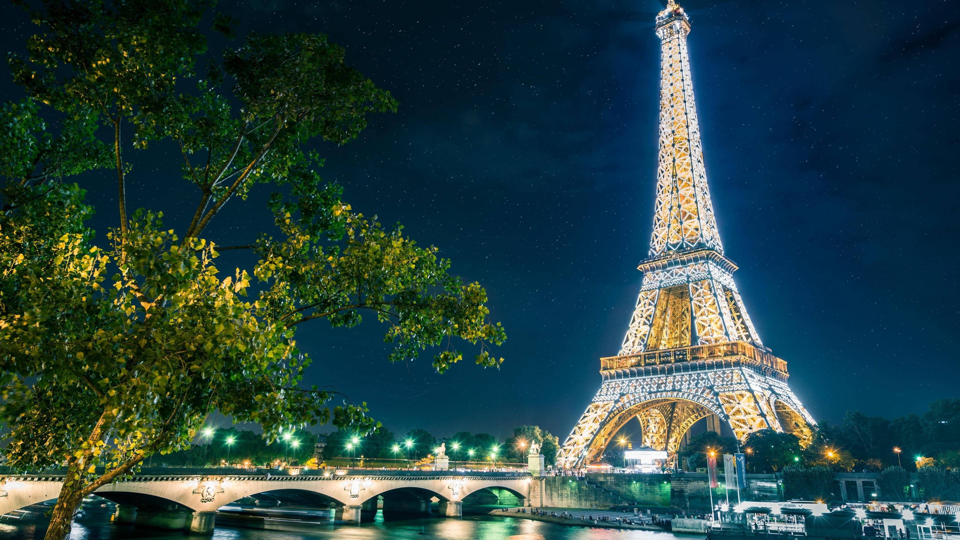 Paris At Night Wallpapers Top Free Paris At Night Backgrounds Wallpaperaccess