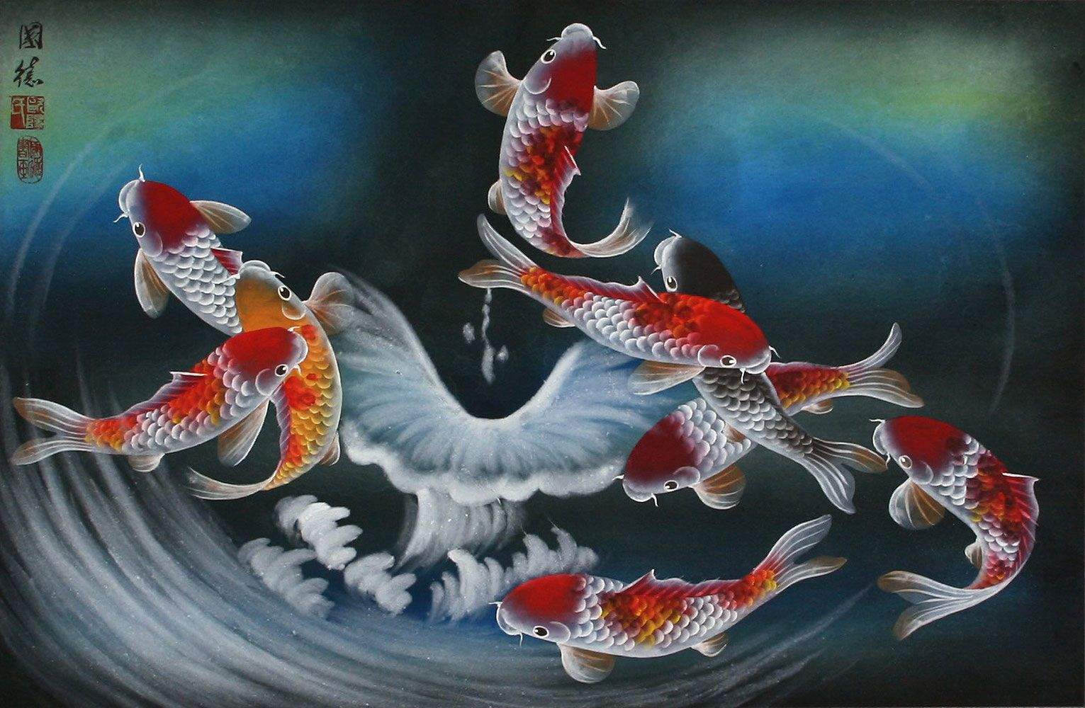 Japanese Koi Fish Art Wallpapers Top Free Japanese Koi Fish Art Backgrounds Wallpaperaccess