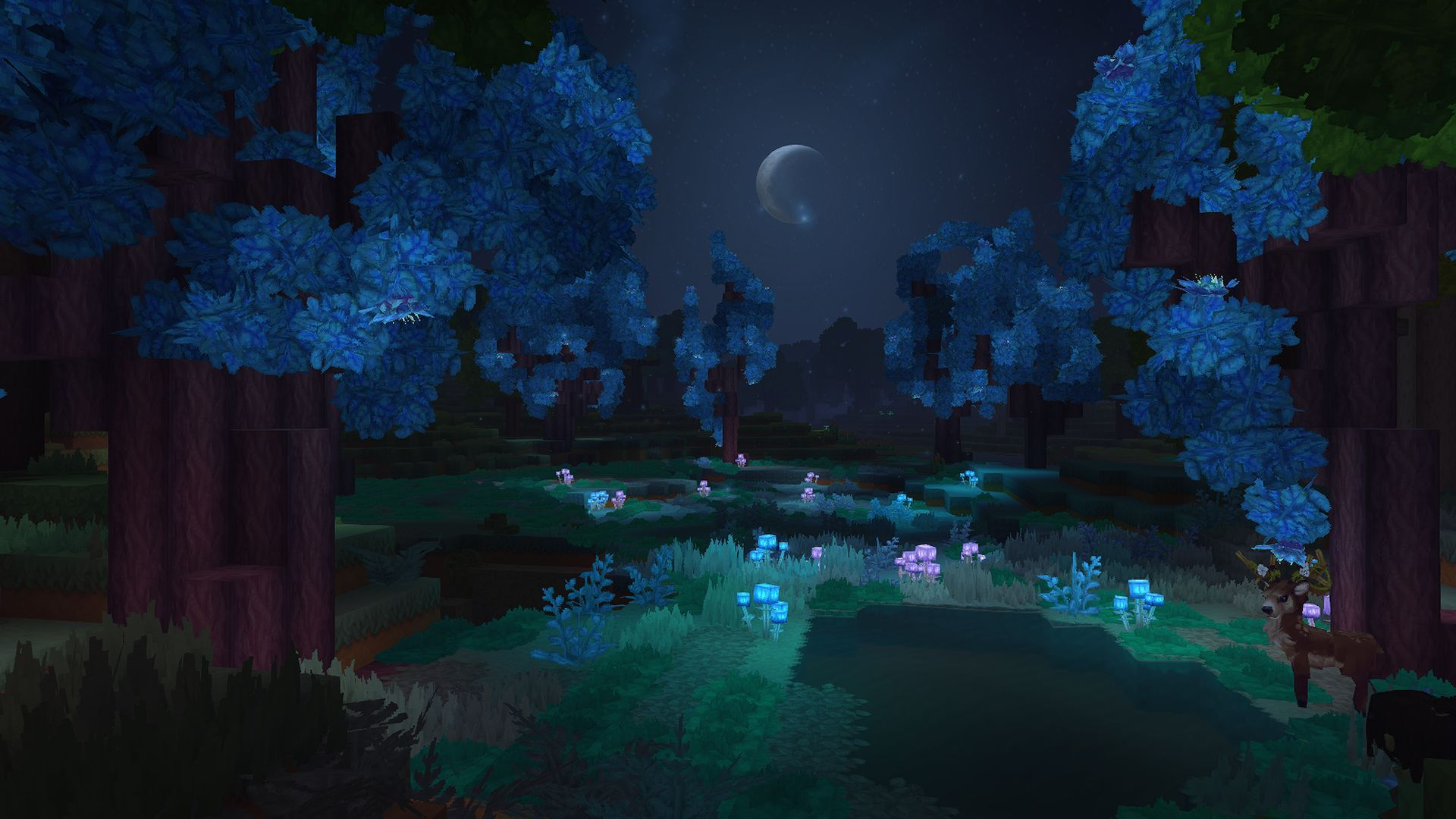 Minecraft Night Wallpapers Top Free Minecraft Night Backgrounds Wallpaperaccess