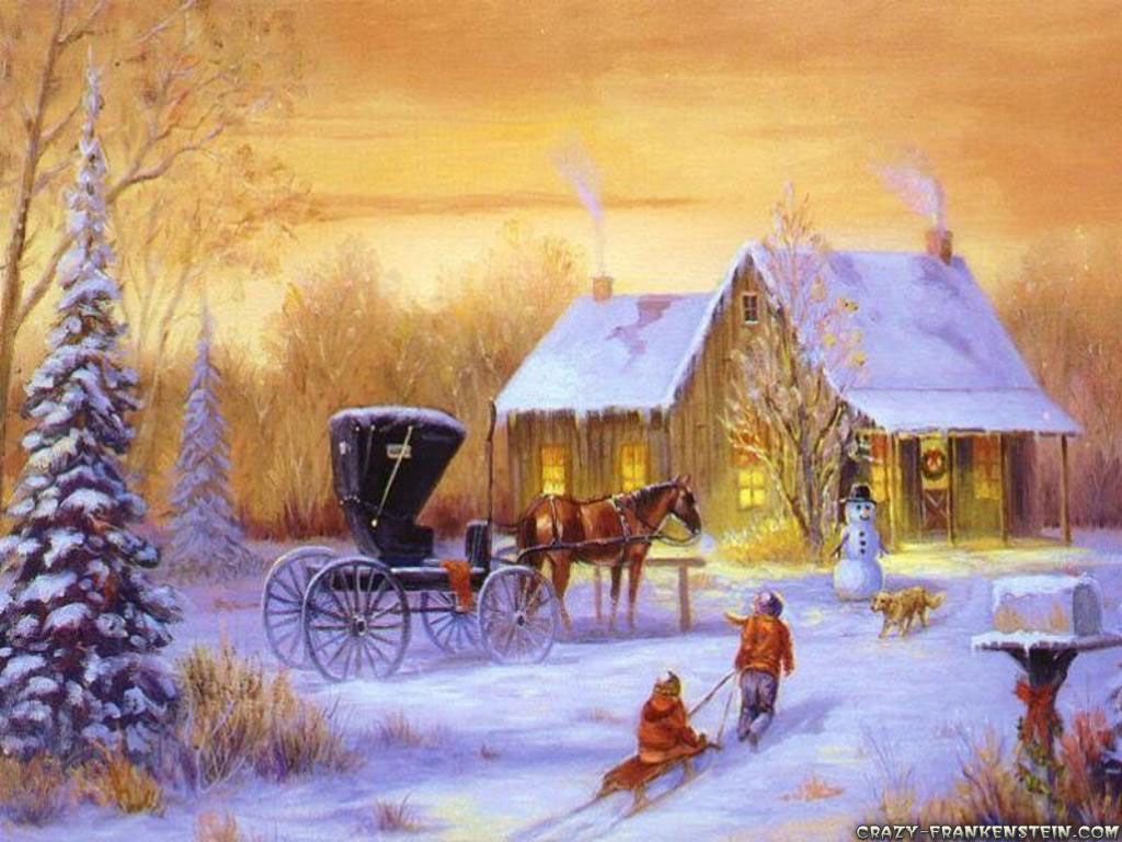Country Christmas Background Wallpaper.Western Christmas Desktop Wallpapers Top Free Western