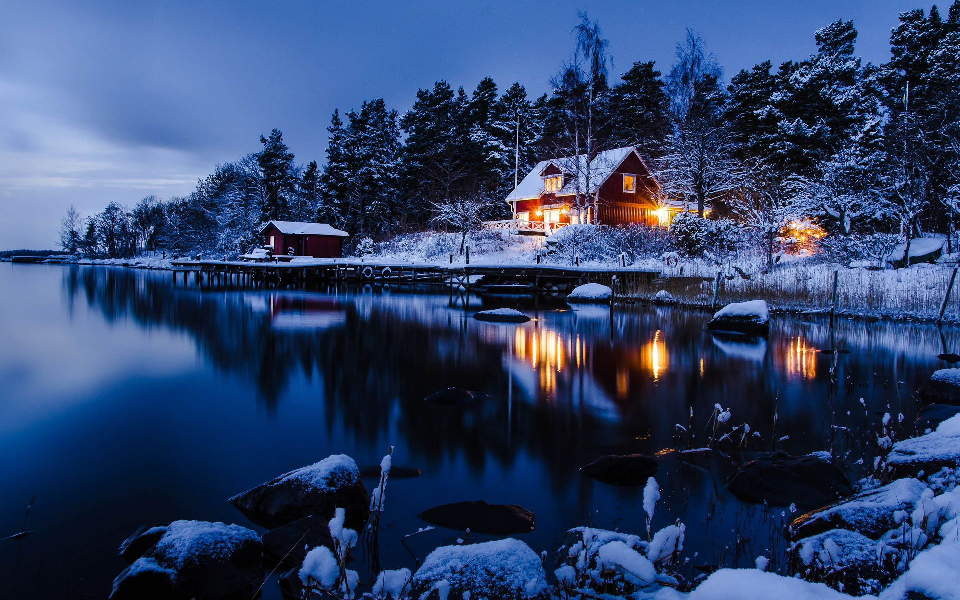 Snowy Night Wallpapers Top Free Snowy Night Backgrounds