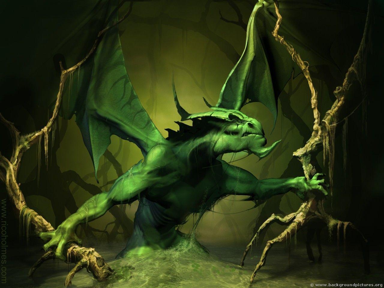 D Moving Dragon Wallpaper