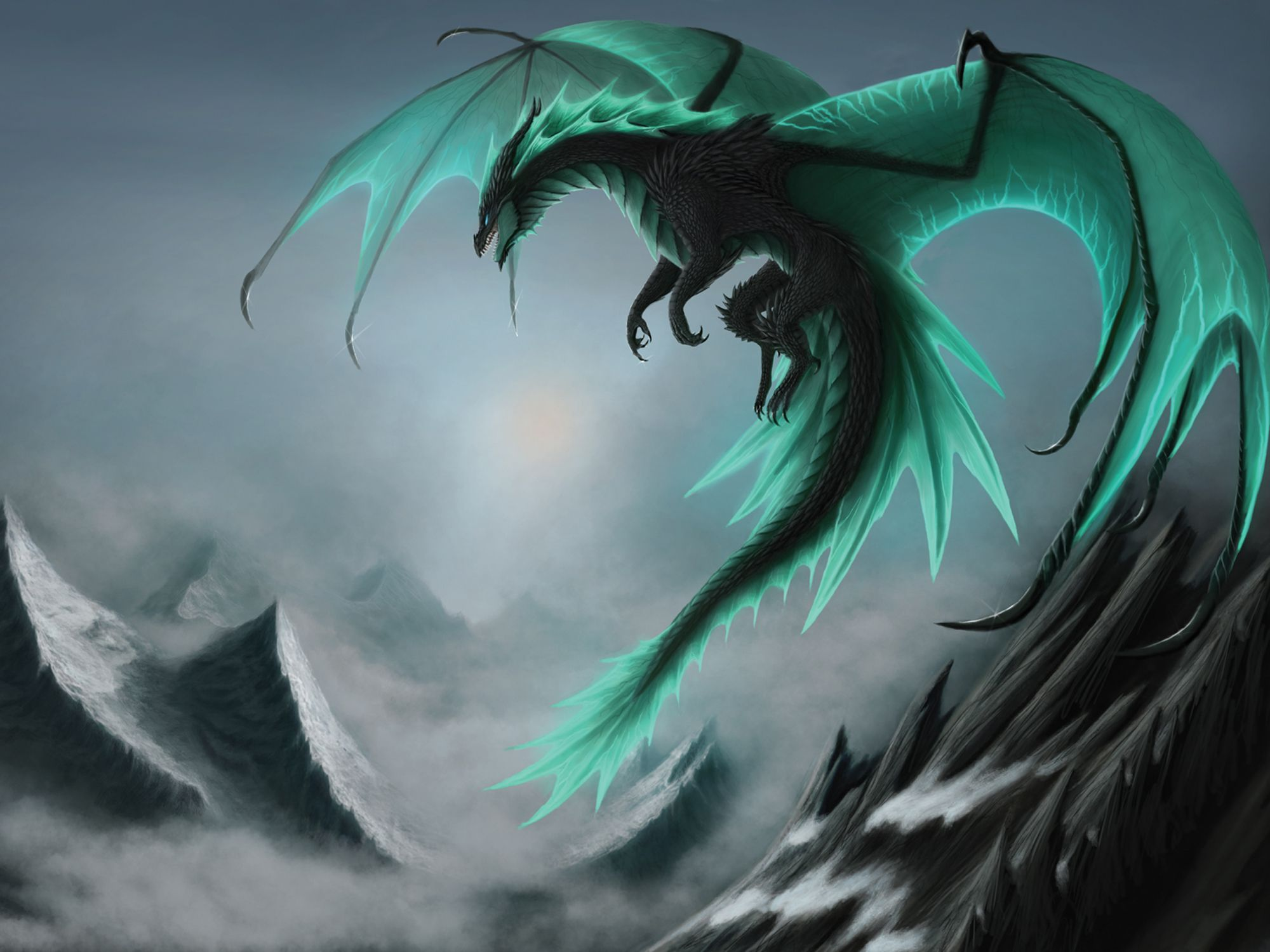 Teal Dragons Wallpapers Top Free Teal Dragons Backgrounds