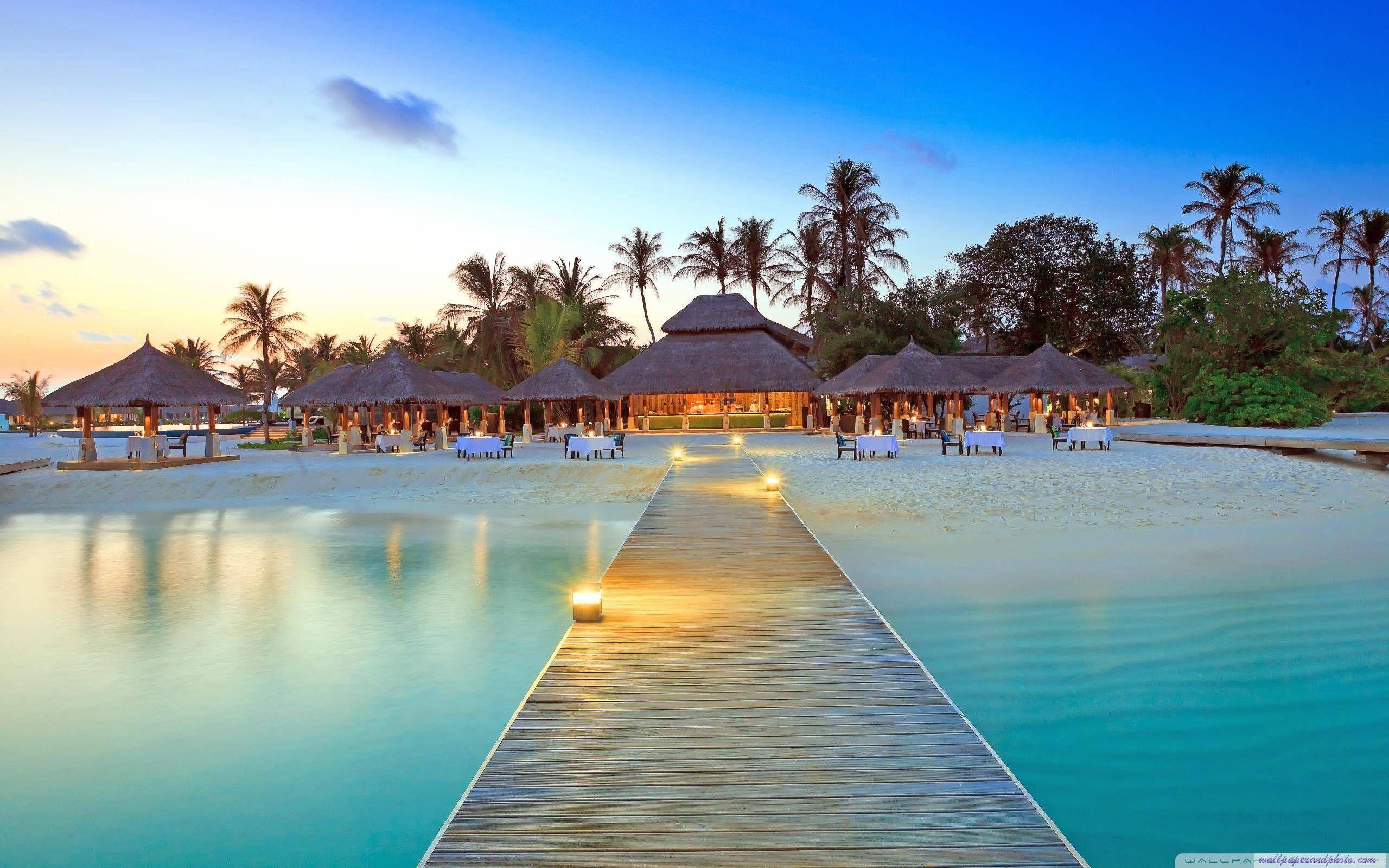 2560x1600 Maldive Islands Resort Hình nền máy tính HD 16: 9 16:10: Màn hình rộng: Cao.  Khu nghỉ mát trên đảo, Hình nền bãi biển, Các bãi biển trên thế giới