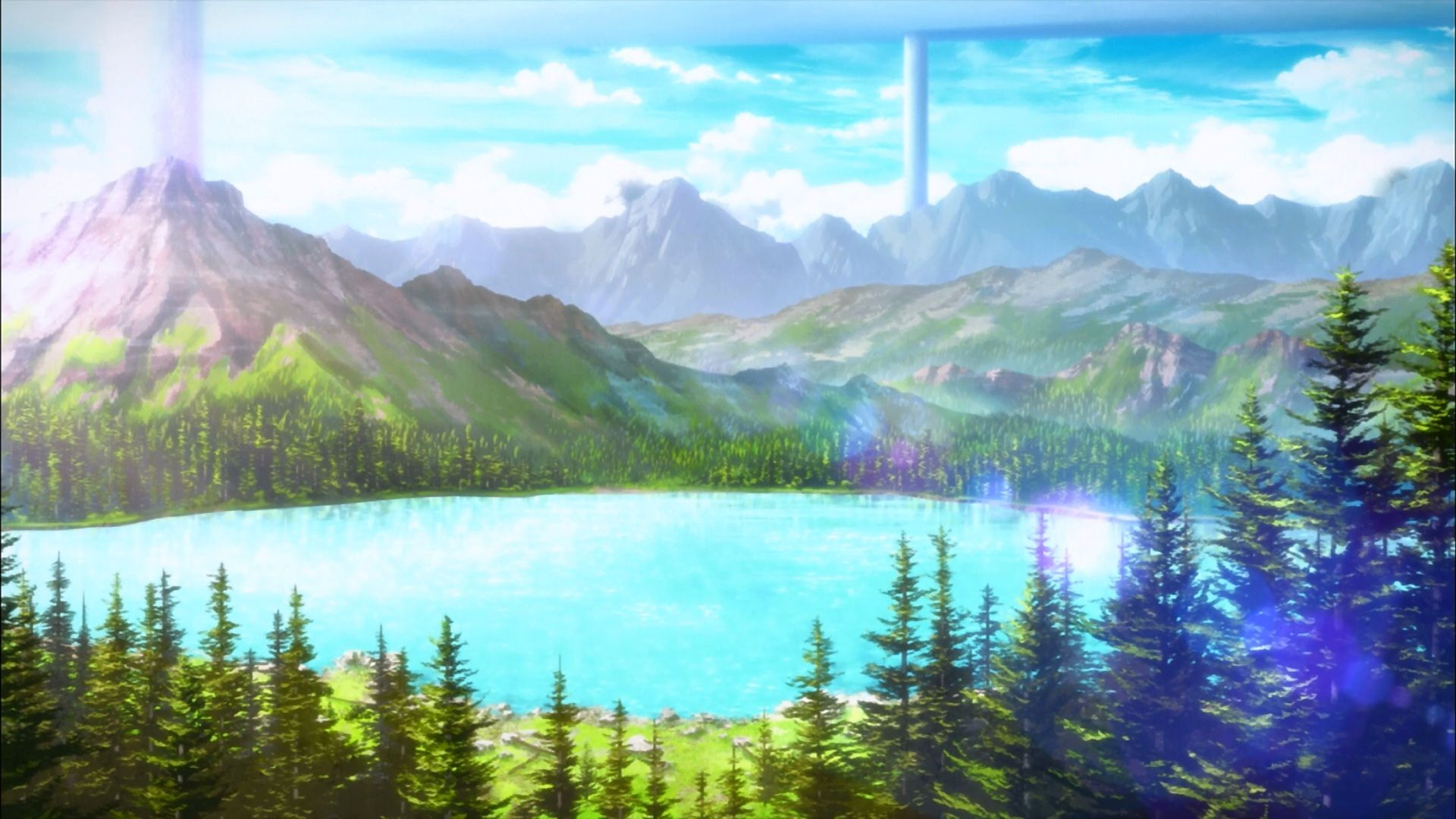 Hd Landscape Anime Wallpapers Top Free Hd Landscape Anime Backgrounds Wallpaperaccess