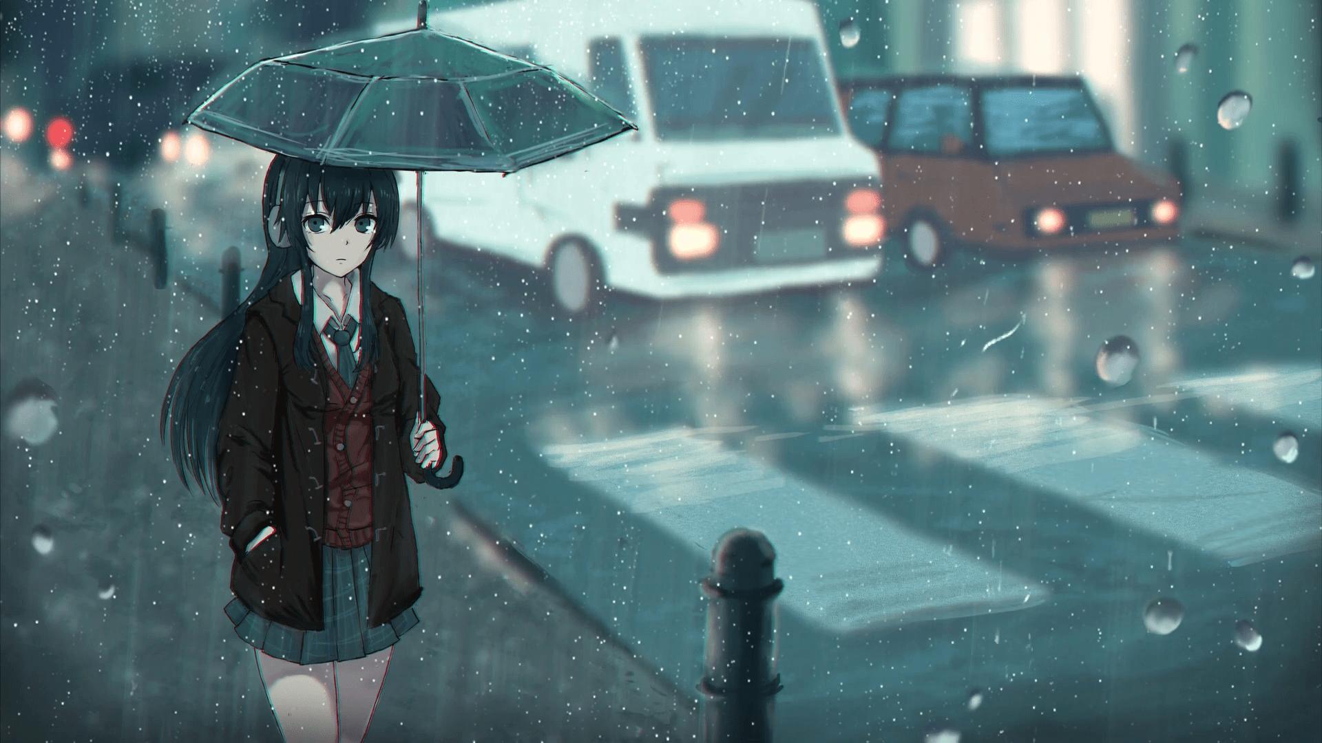 Rain Anime Hd Wallpapers Top Free Rain Anime Hd Backgrounds Wallpaperaccess