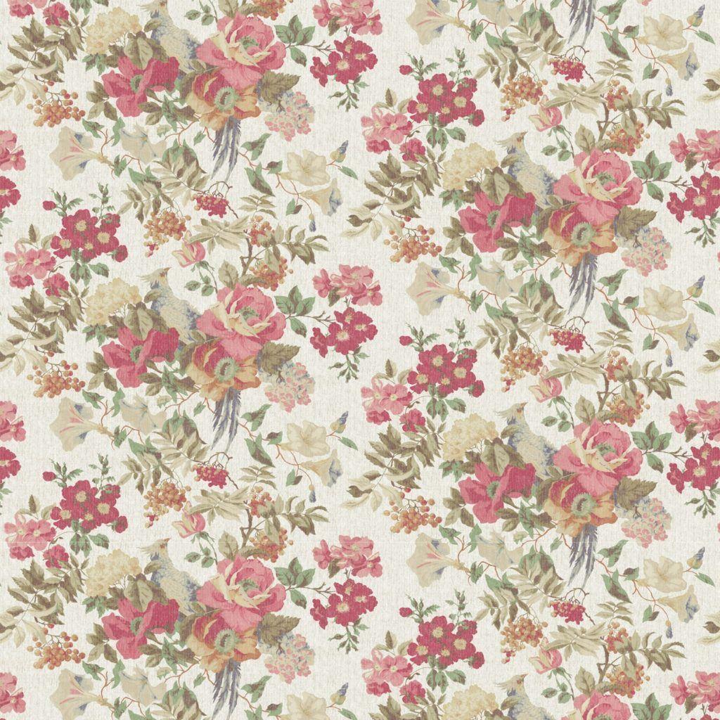 1920x1913 Vintage Flowers Wallpaper Pattern ...