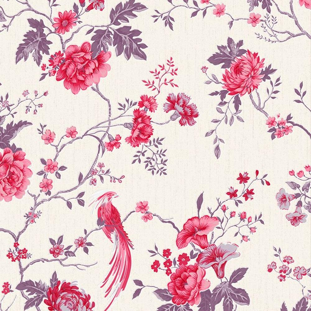 "1920x1080 Flower Oriental Bird Floral China Summer Red Spring Flowers Painting ..."">"