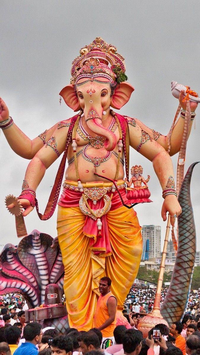 675x1200 Chúa Ganesha lễ kỷ niệm lớn nhất Hình nền điện thoại di động HD - Hình nền điện thoại di động