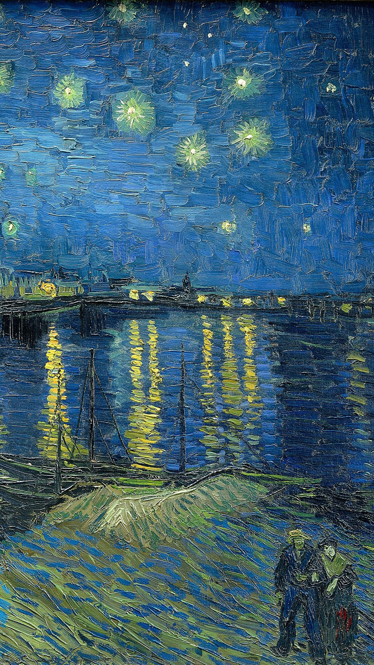 938x1668 Download wallpaper 938x1668 vincent van gogh, the starry night ...