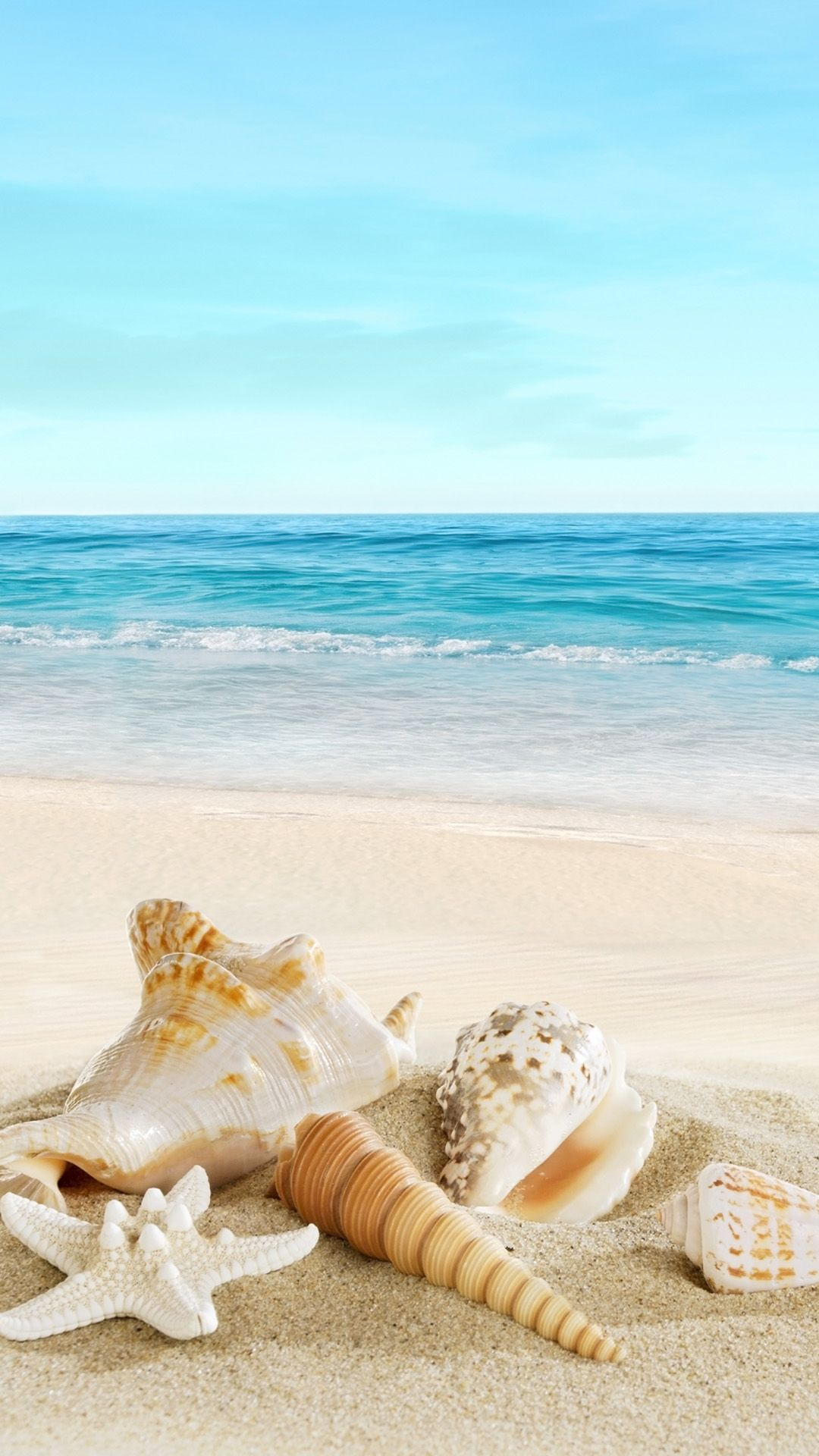 Wallpaper smartphone beach