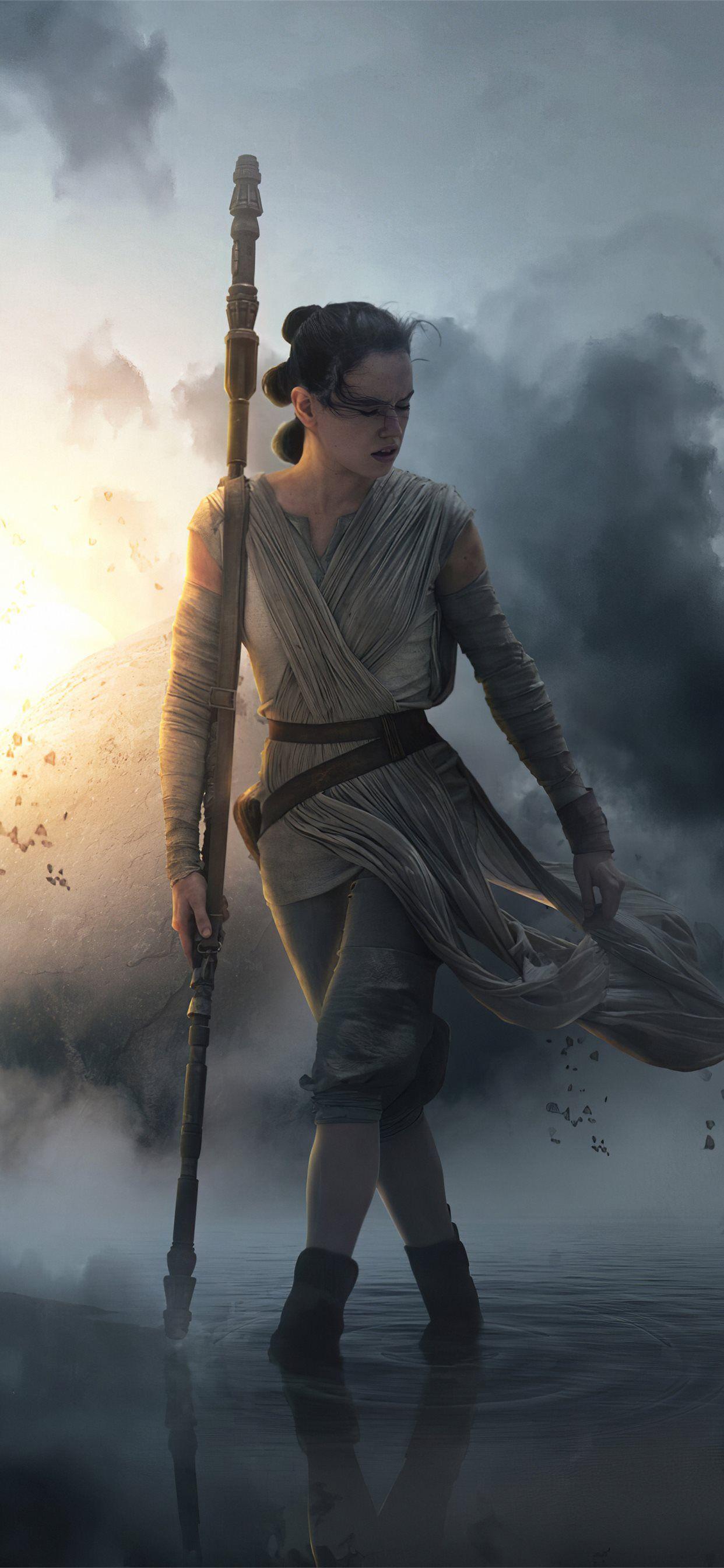 Best Star Wars The Rise Of Skywalker Iphone Wallpapers Hd Rey Star Wars Iphone Wallpapers Top Free Rey Star Wars