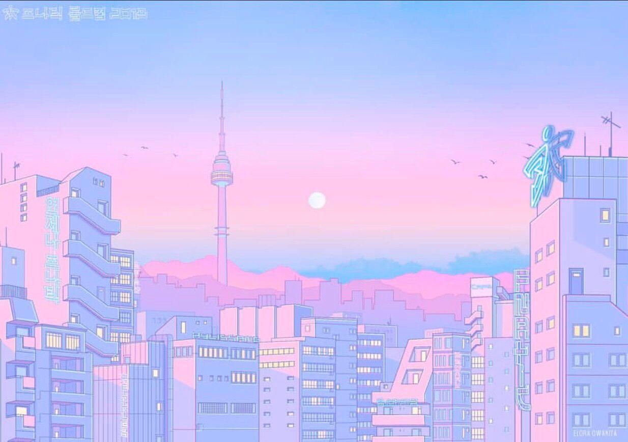 Pink Anime Aesthetic Desktop Wallpapers Top Free Pink Anime Aesthetic Desktop Backgrounds Wallpaperaccess