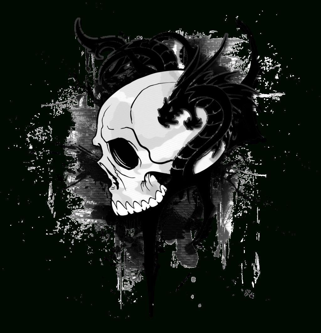 894x894 Skyrim Dragon Skull