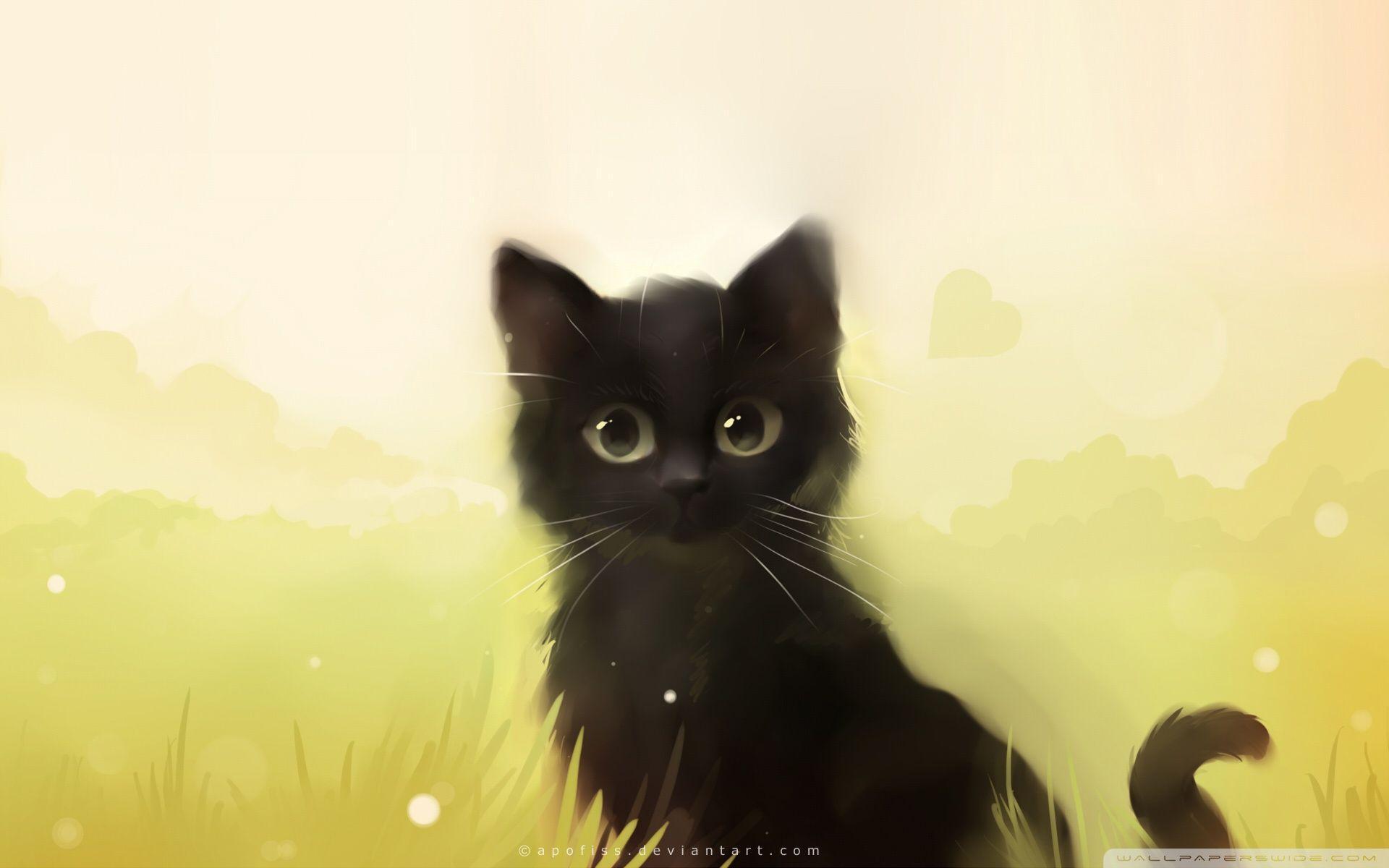 Kawaii anime cat wallpapers top free kawaii anime cat - Cartoon cat background ...