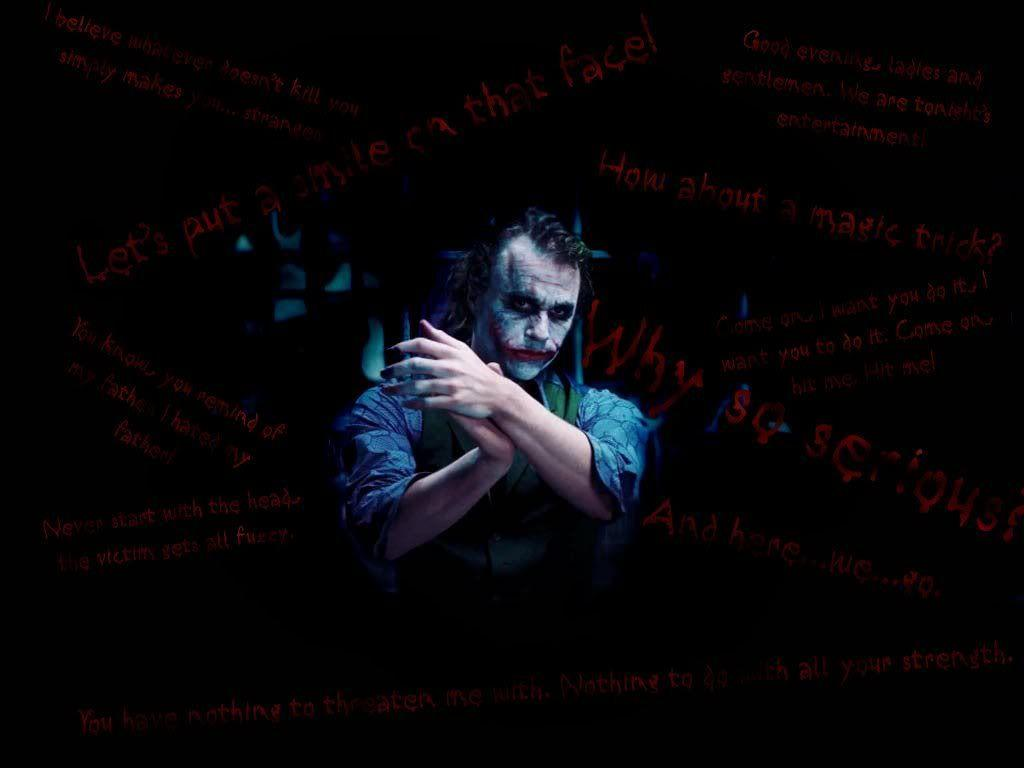 Heath Ledger Joker Quotes Wallpapers - Top Free Heath Ledger Joker