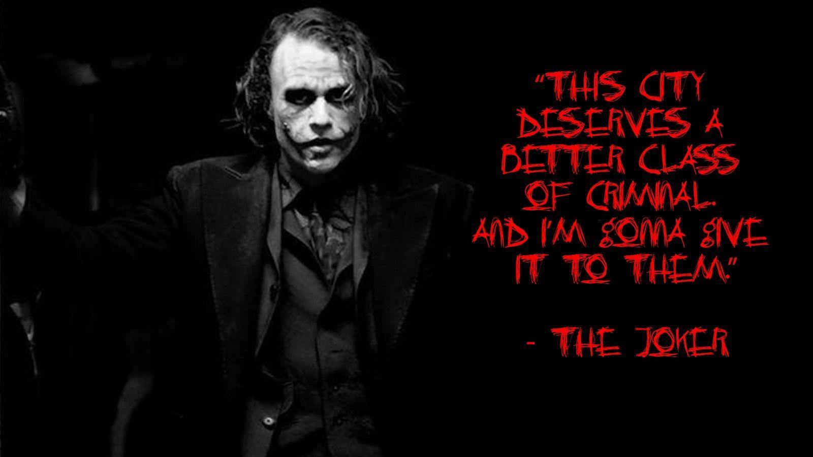 Joker Quotes: Heath Ledger Joker Quotes Wallpapers