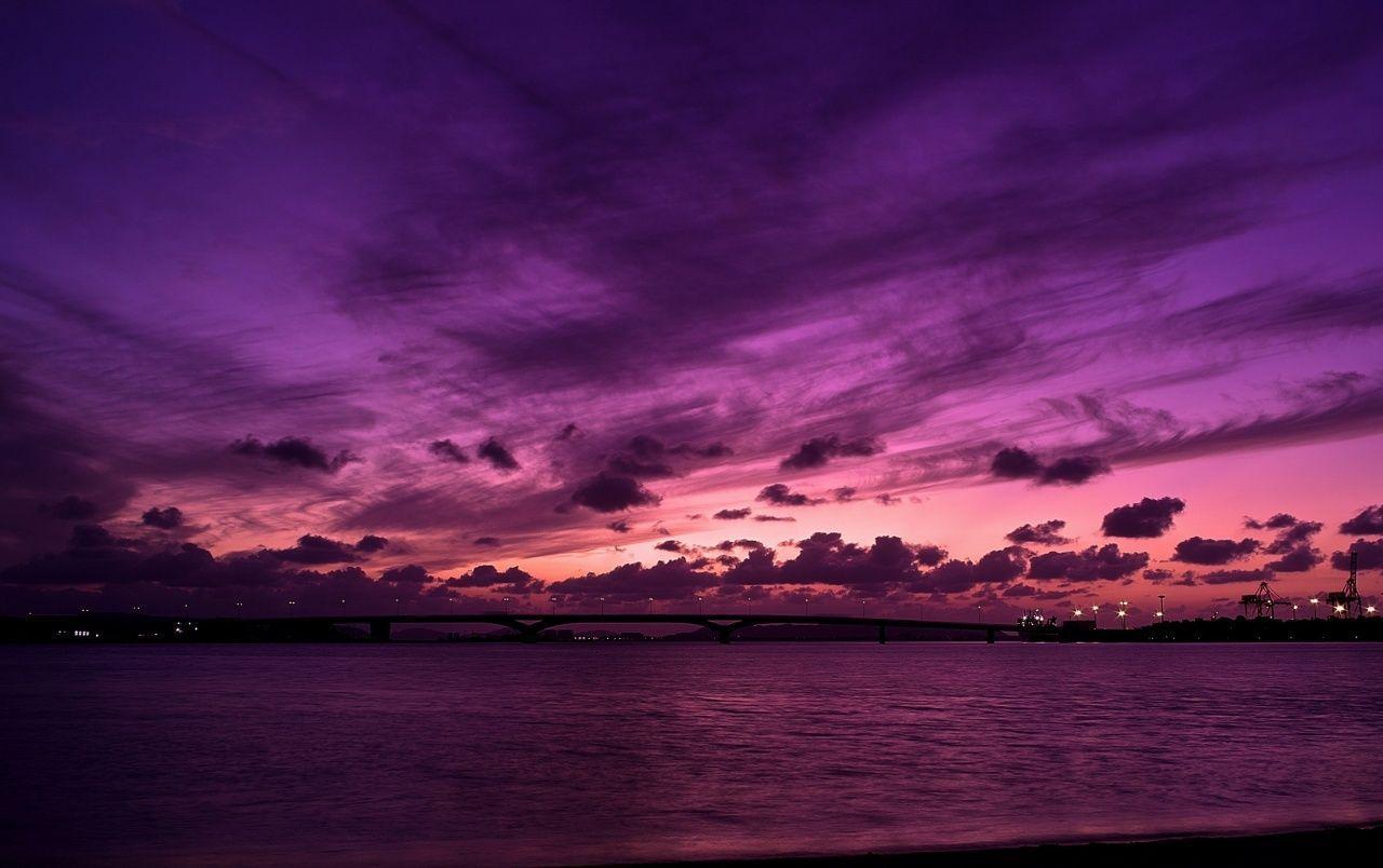 Purple Sky Wallpapers Top Free Purple Sky Backgrounds Wallpaperaccess