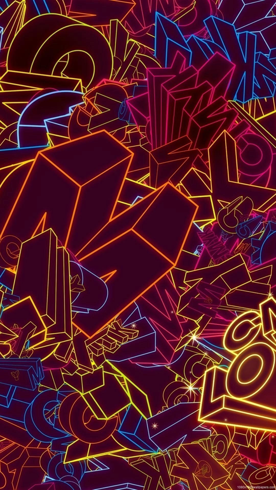 1080x1920 Hình nền vẽ đầy màu sắc trừu tượng tuyệt vời HD