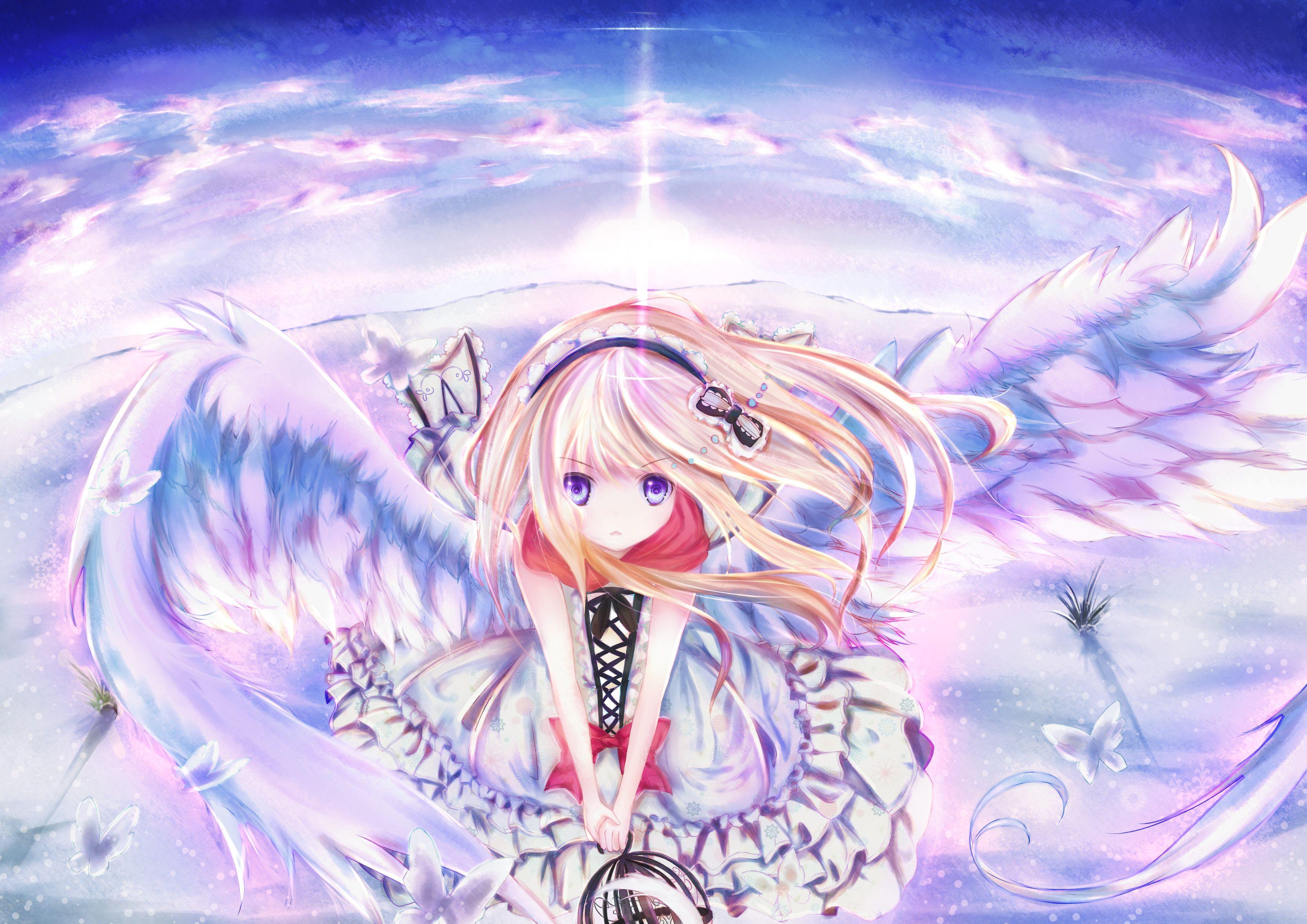 Anime Angel Girl Wallpapers Top Free Anime Angel Girl