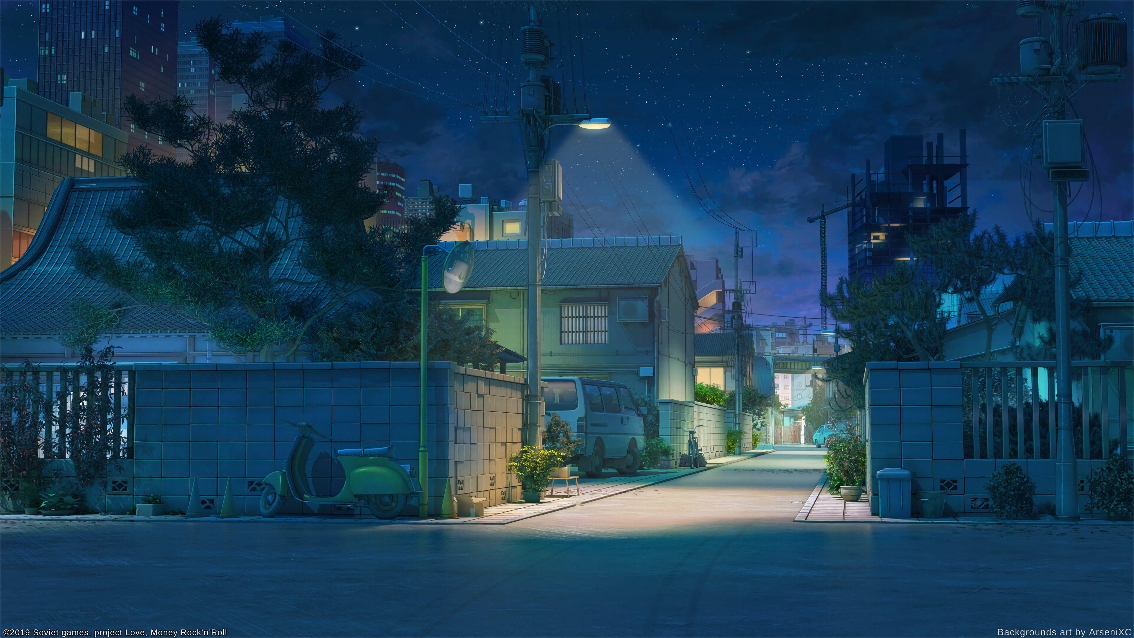 blue anime aesthetic desktop wallpapers