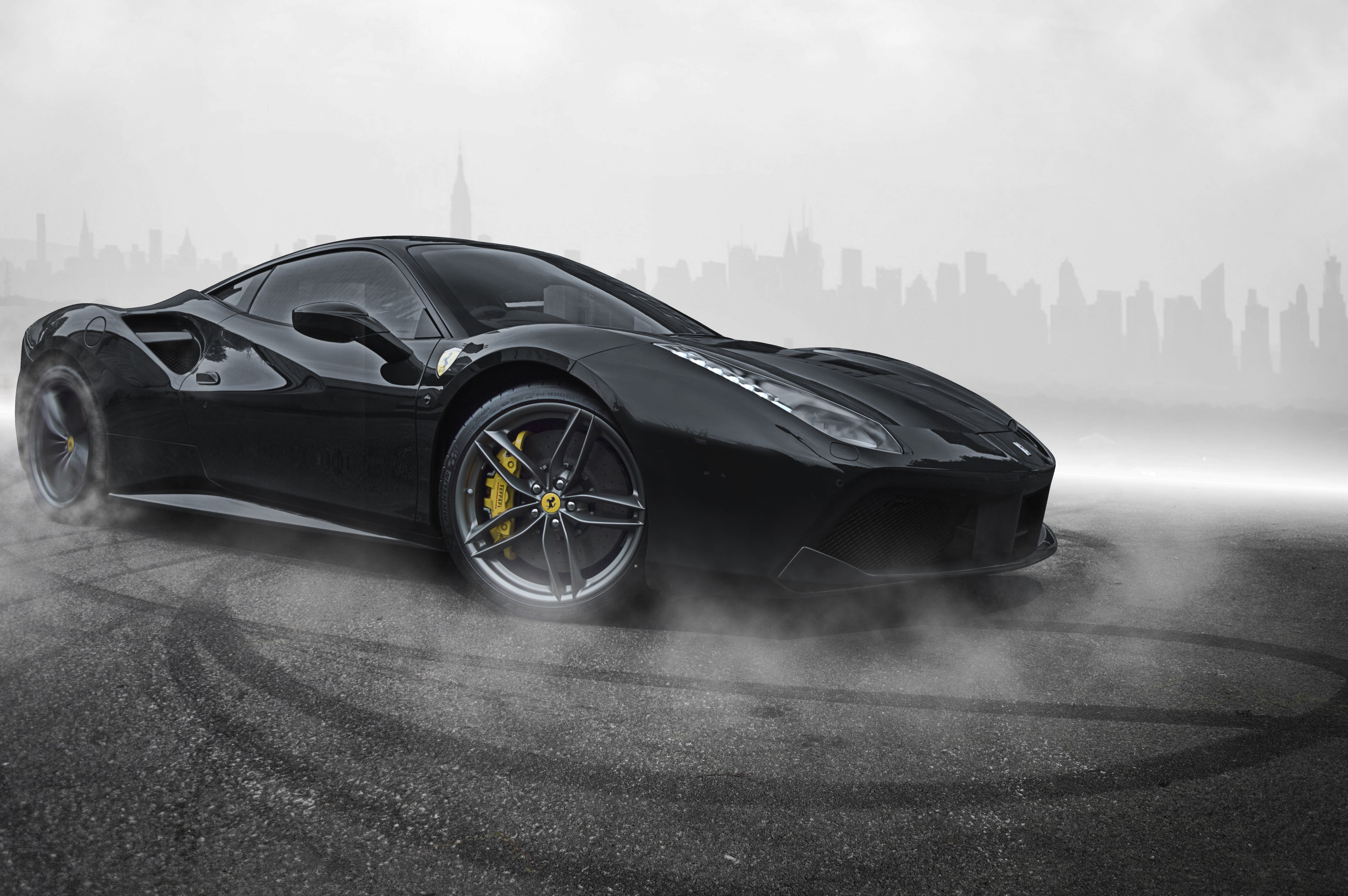 Black Ferrari 488 Wallpapers Top Free Black Ferrari 488 Backgrounds Wallpaperaccess