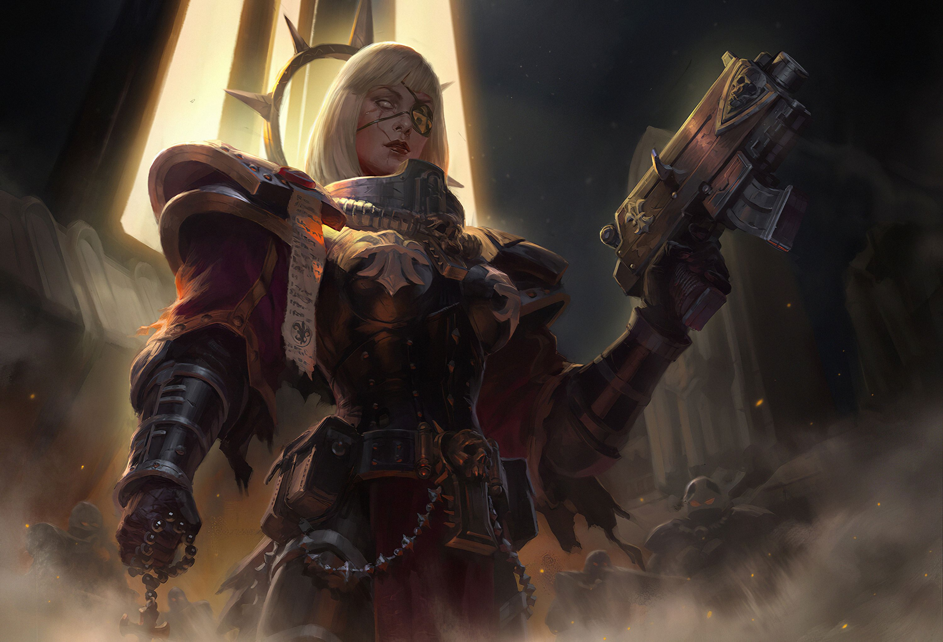 Sisters Of Battle Wallpapers Top Free Sisters Of Battle Backgrounds Wallpaperaccess