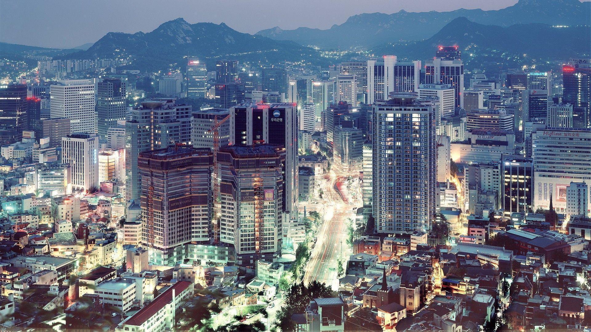 Shiodome Skyline At Night Minato Tokyo Japan 4k Ultrahd – Fondos de