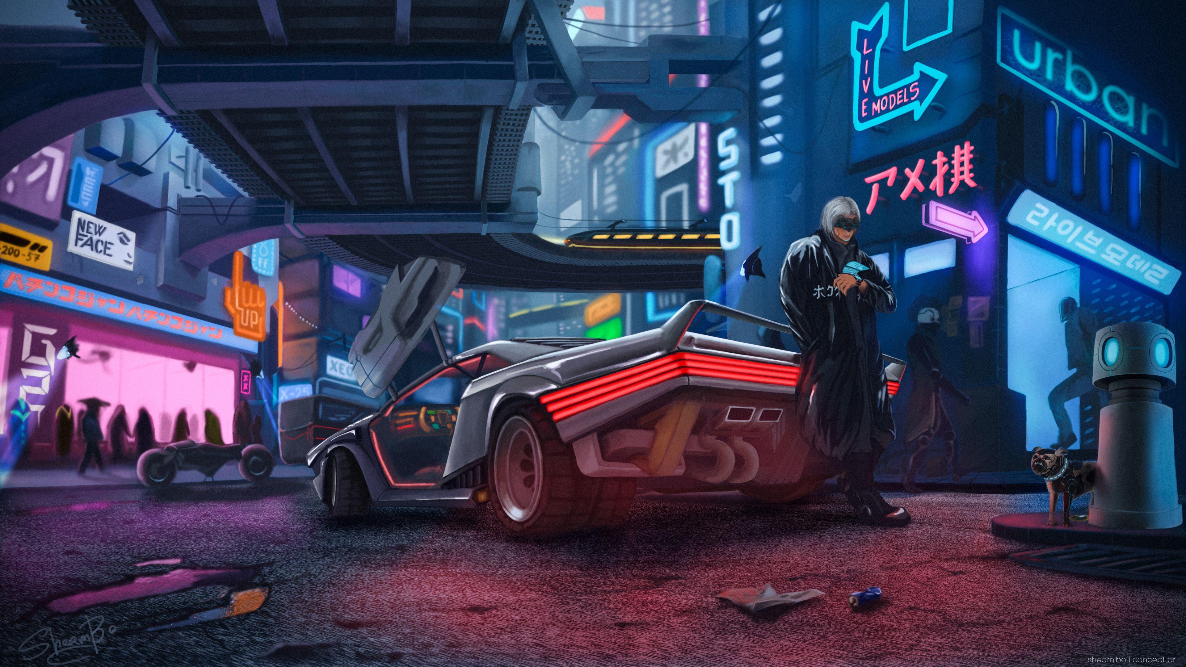 Cyberpunk Game Wallpapers Top Free Cyberpunk Game Backgrounds Wallpaperaccess