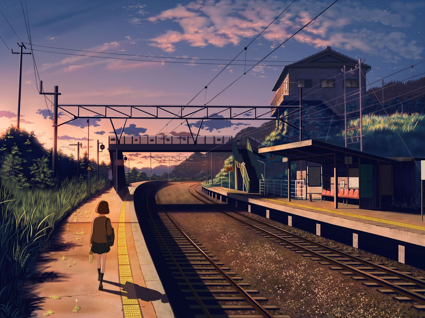 Anime Train Wallpapers Top Free Anime Train Backgrounds Wallpaperaccess